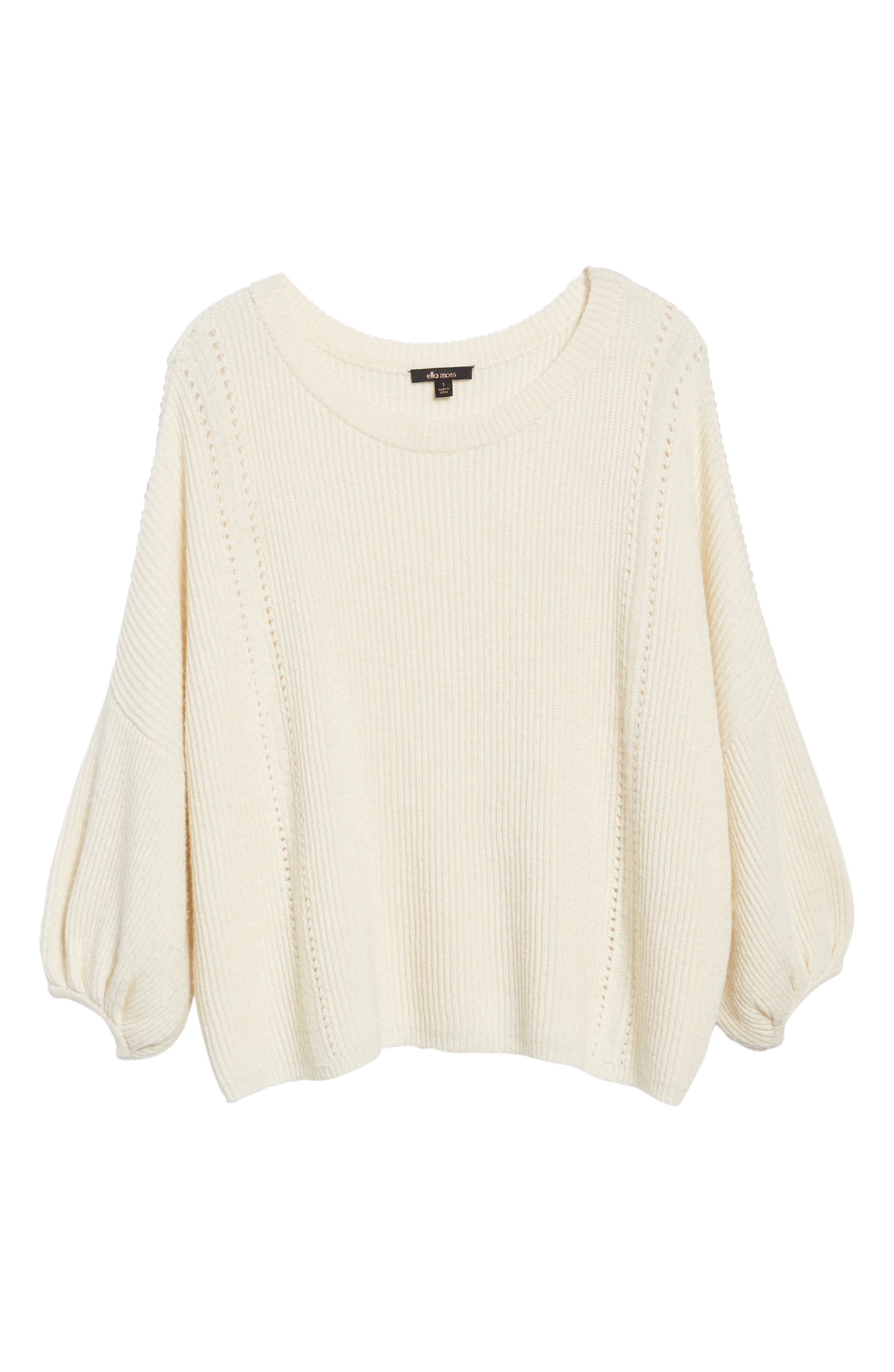 Alternate Image 6  - Ella Moss Delfina Ribbed Sweater