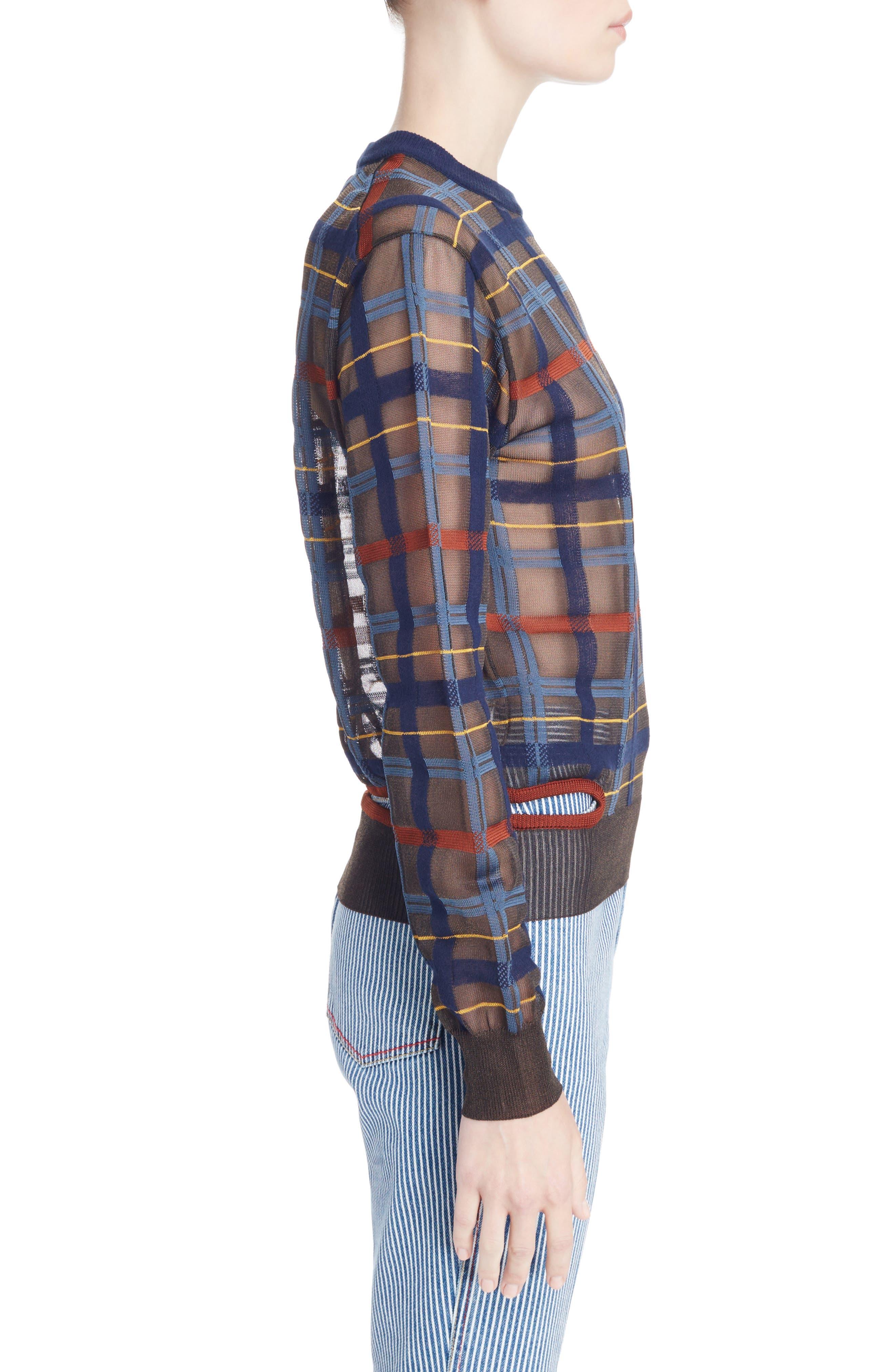 Alternate Image 3  - Toga Check Knit Sweater
