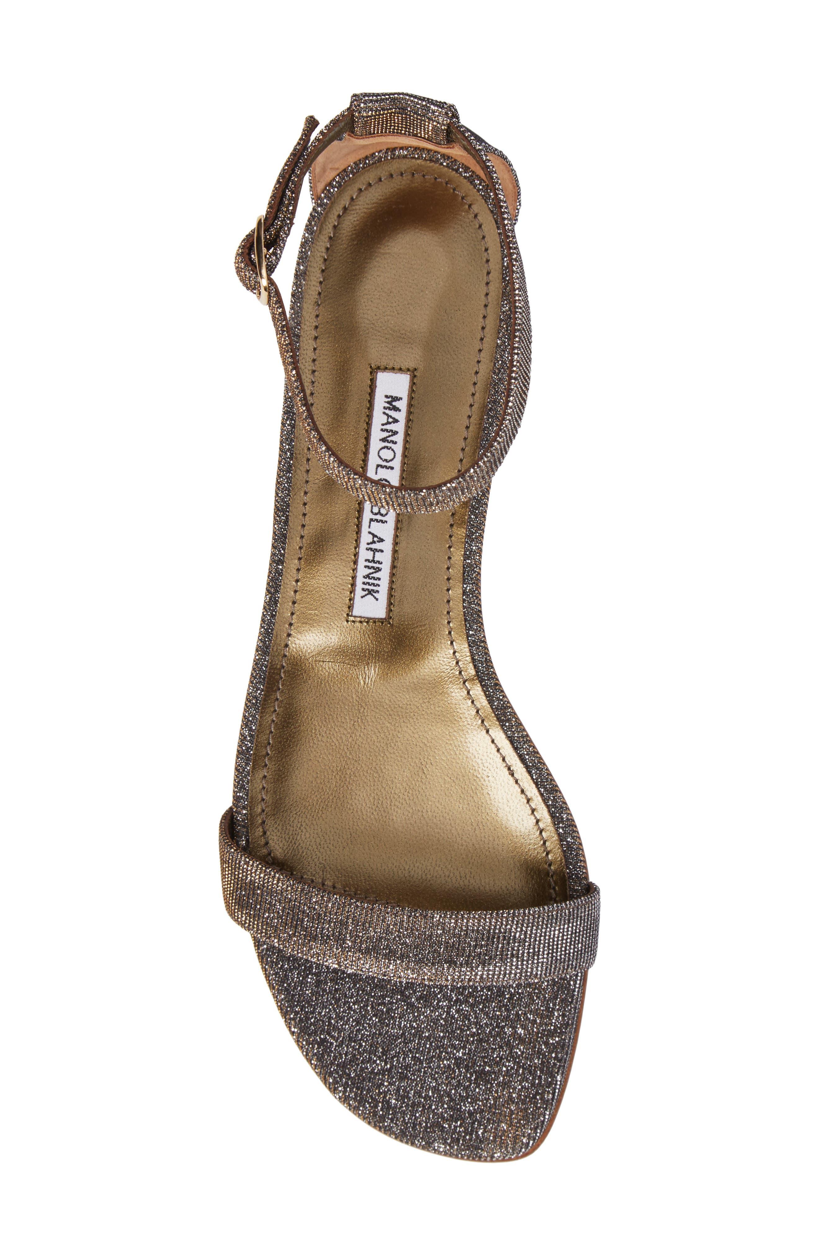Alternate Image 4  - Manolo Blahnik Chafla Ankle Strap Sandal (Women)
