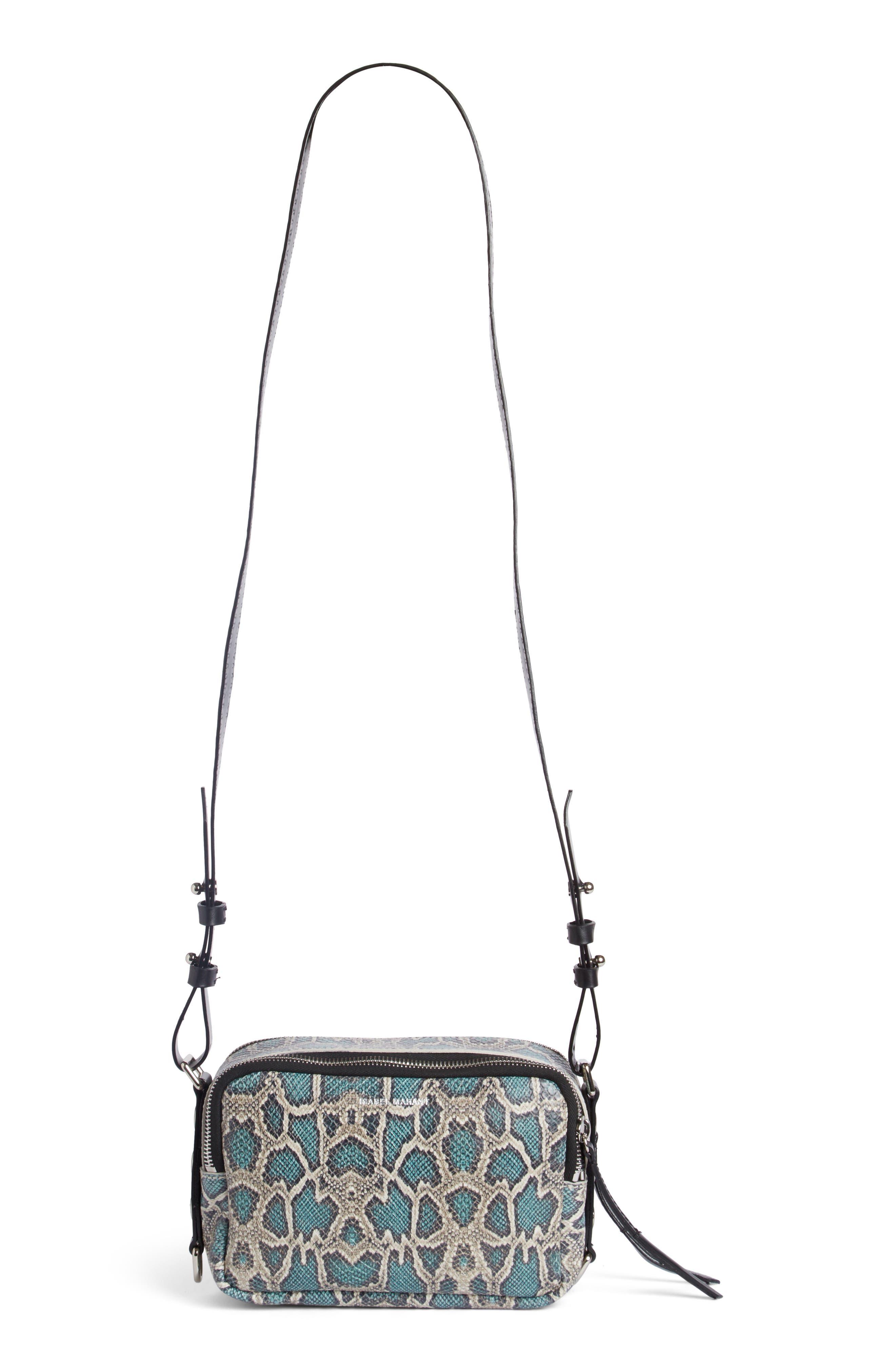 Tinley Studded Leather Crossbody Bag,                         Main,                         color, Verdigris