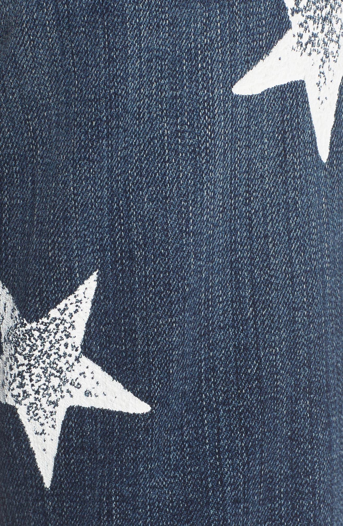 The Fling High Waist Boyfriend Jeans,                             Alternate thumbnail 6, color,                             Loved Destroy/ White Stars