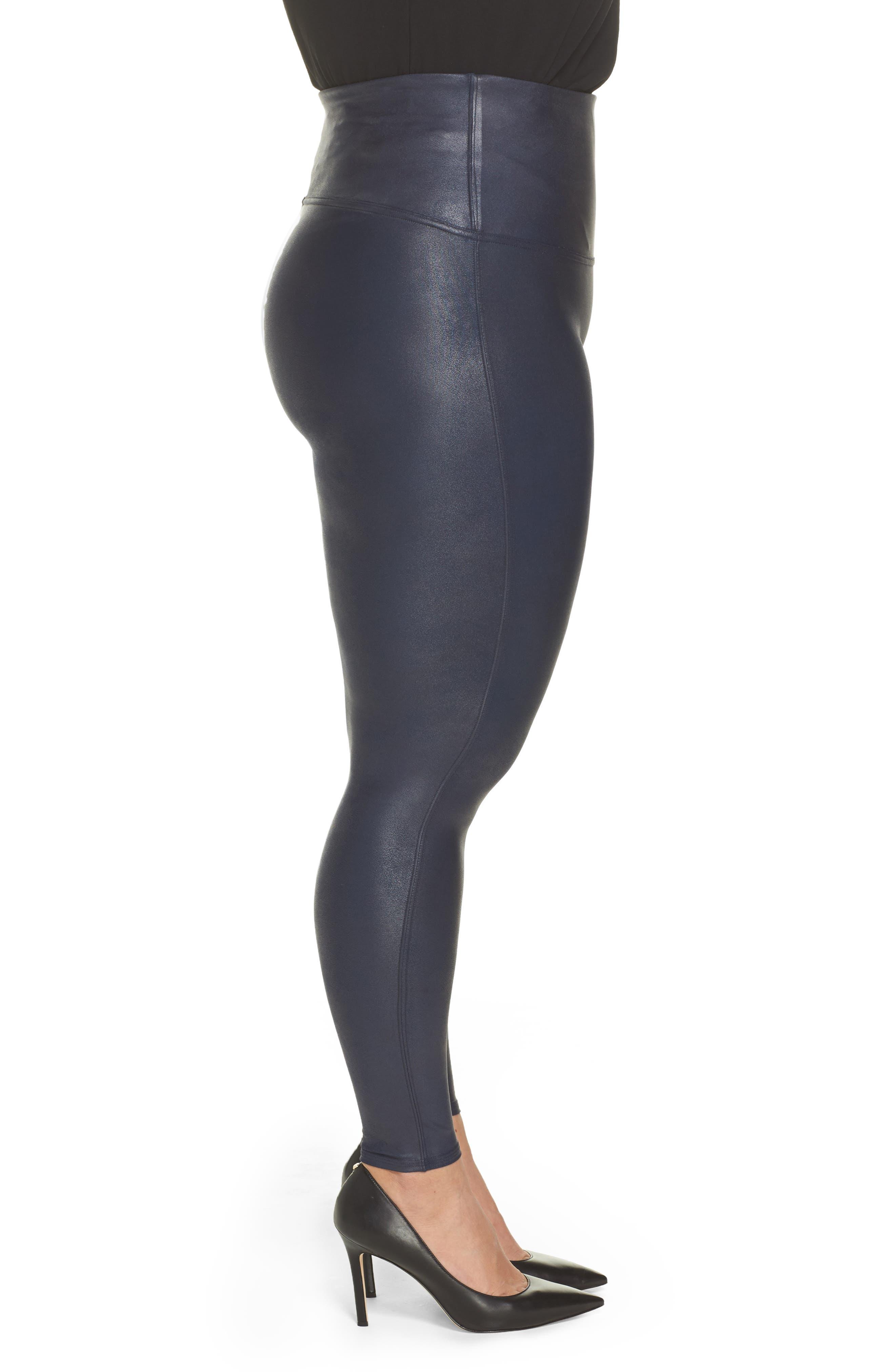 Alternate Image 3  - SPANX® Faux Leather Leggings (Plus Size)