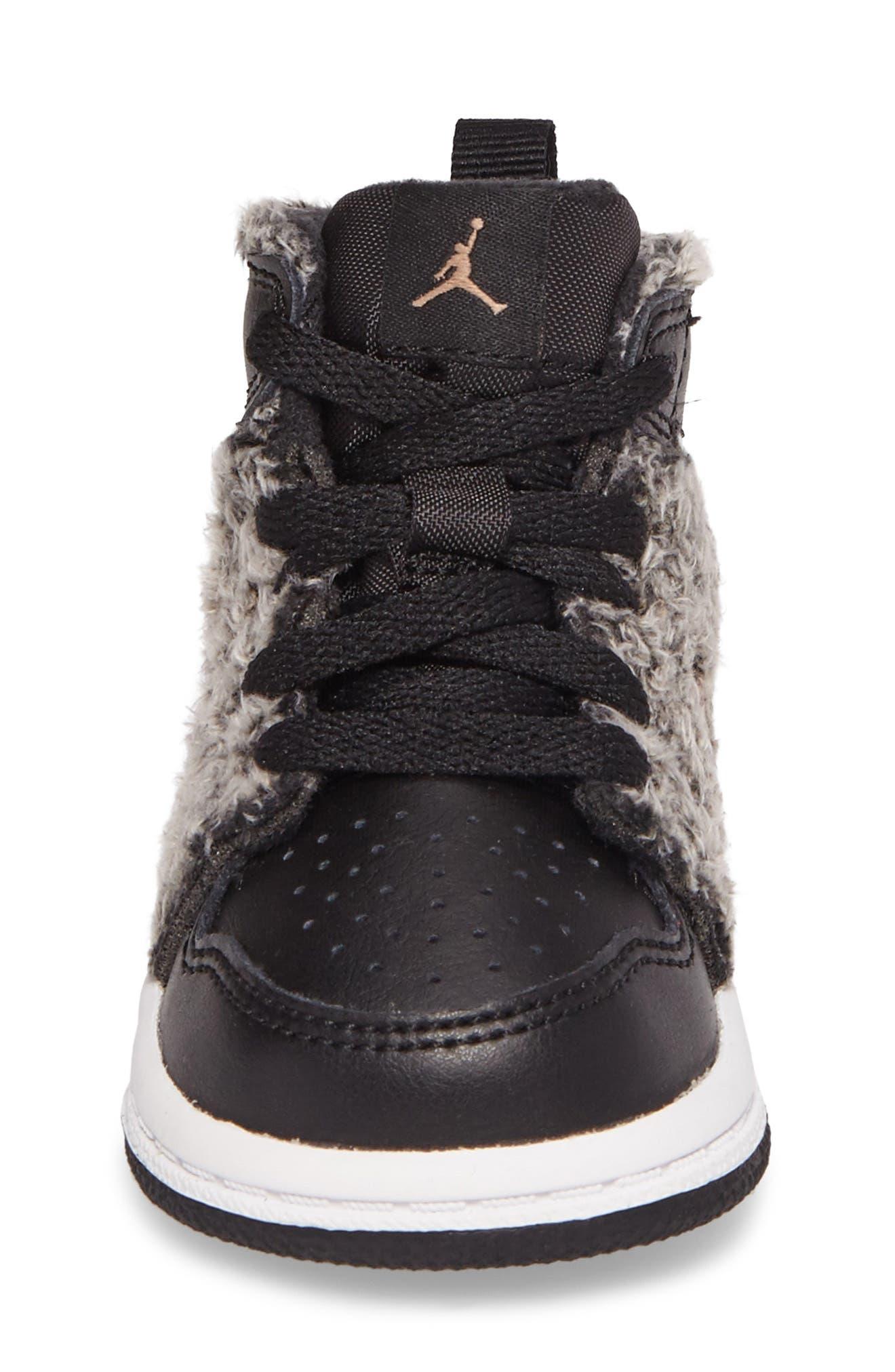 Alternate Image 4  - Nike Air Jordan 1 Retro High Top Basketball Shoe (Baby, Walker and Toddler)