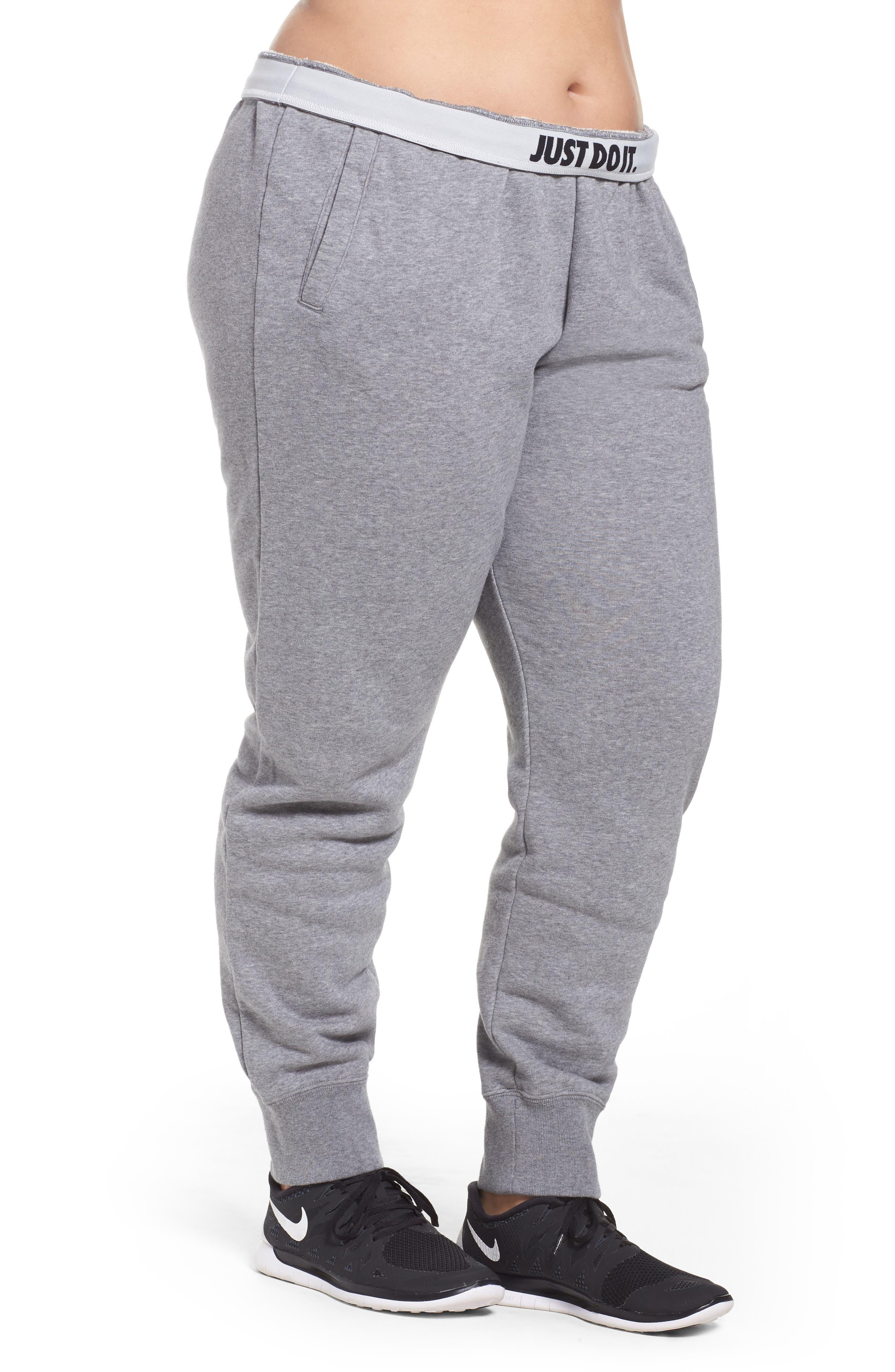 Alternate Image 3  - Nike Drawstring Fleece Pants (Plus Size)