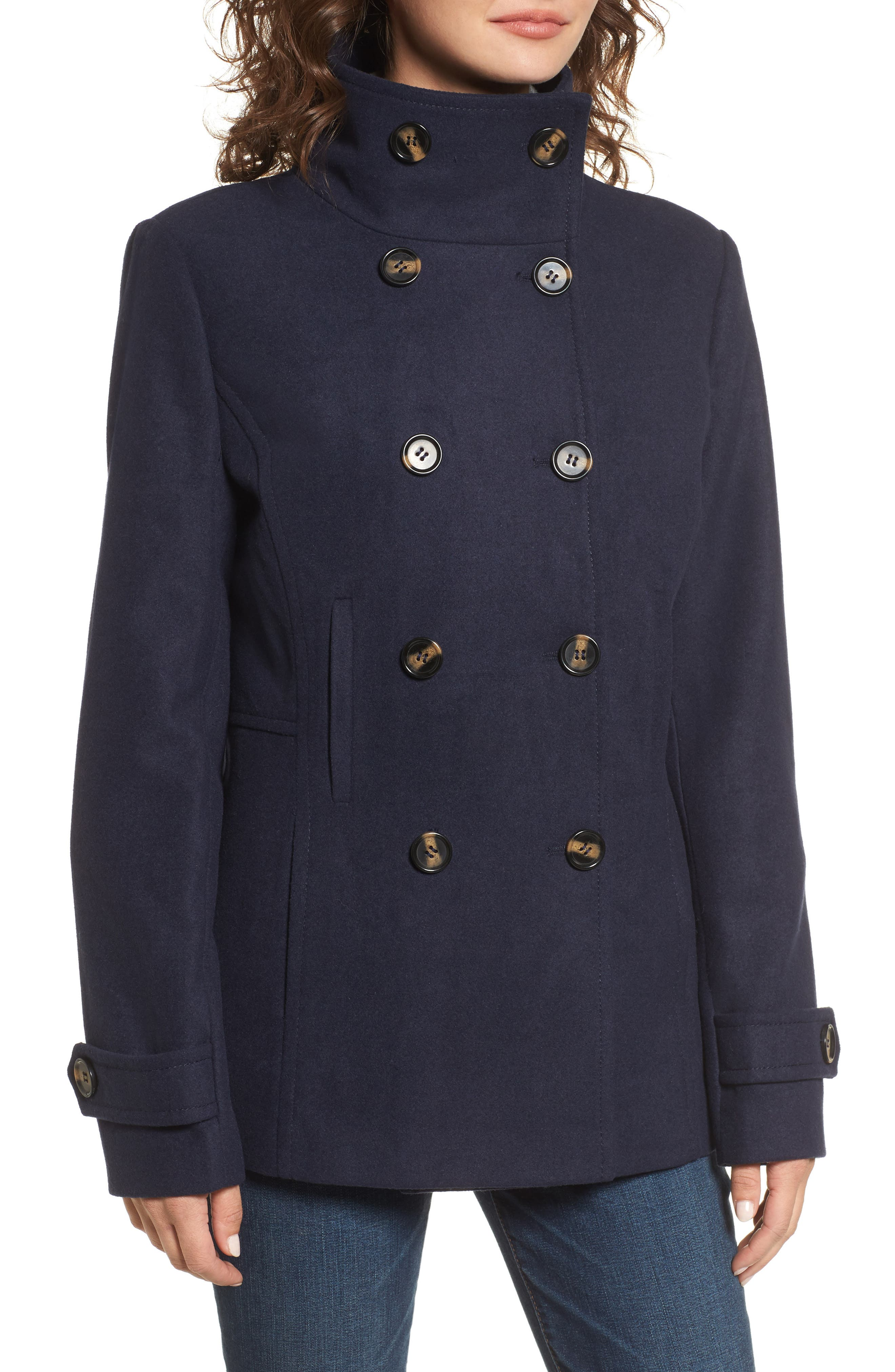 Alternate Image 3  - Thread & Supply Double Breasted Peacoat