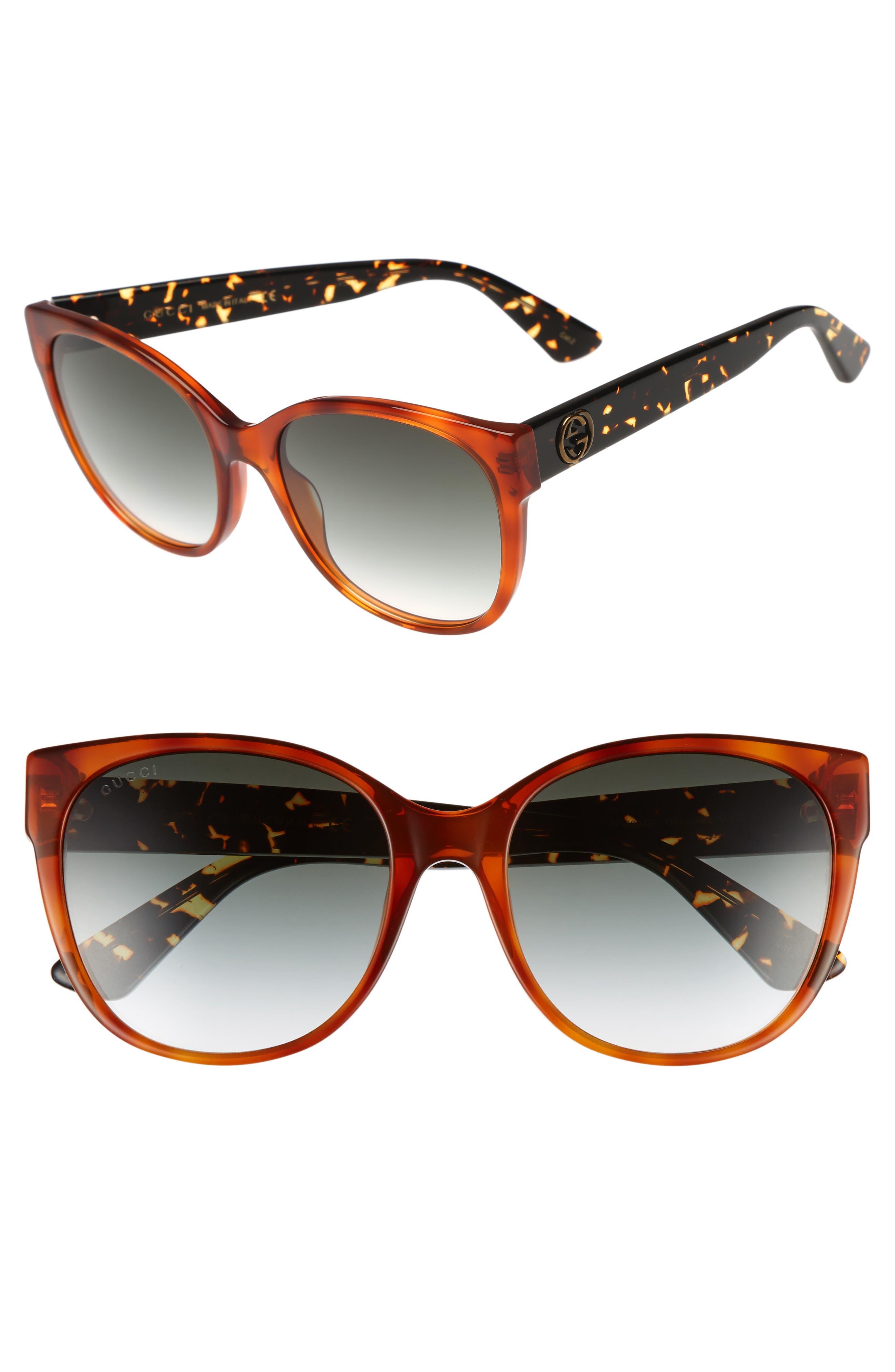 Alternate Image 1 Selected - Gucci 56mm Cat Eye Sunglasses