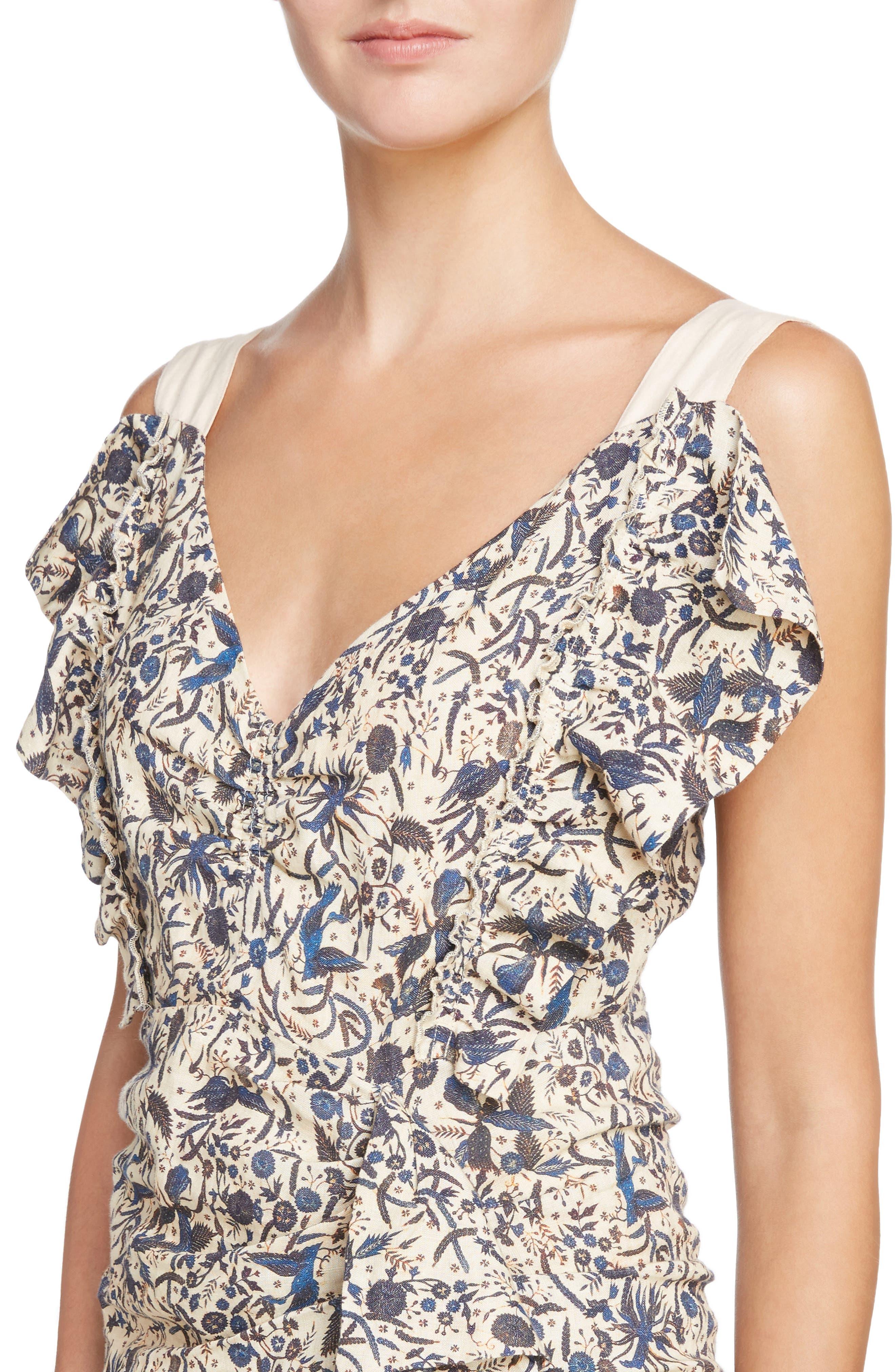 Alternate Image 5  - Isabel Marant Étoile Topaz Print Linen Dress
