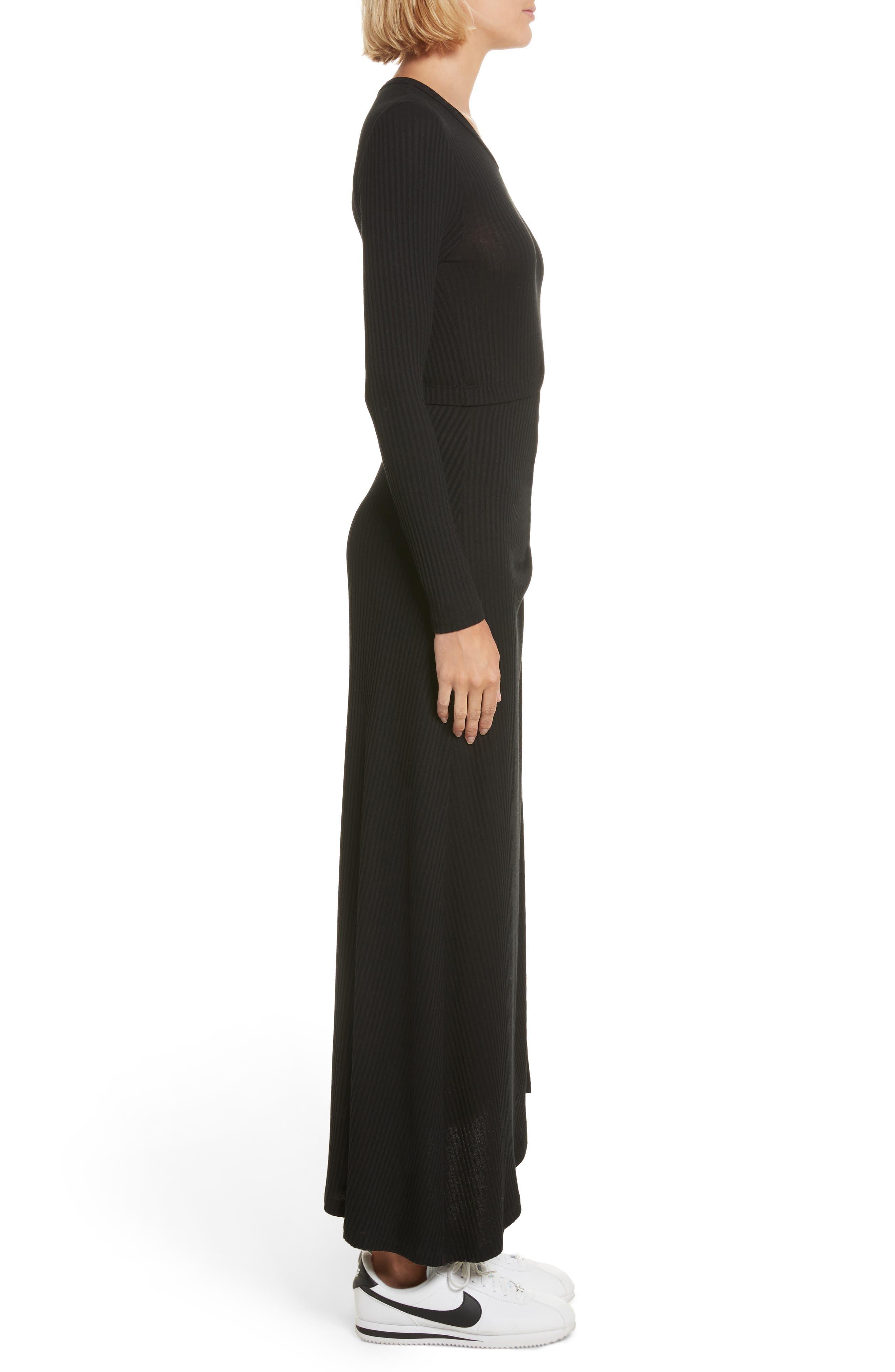 Rooney Cutout Dress,                             Alternate thumbnail 3, color,                             Black