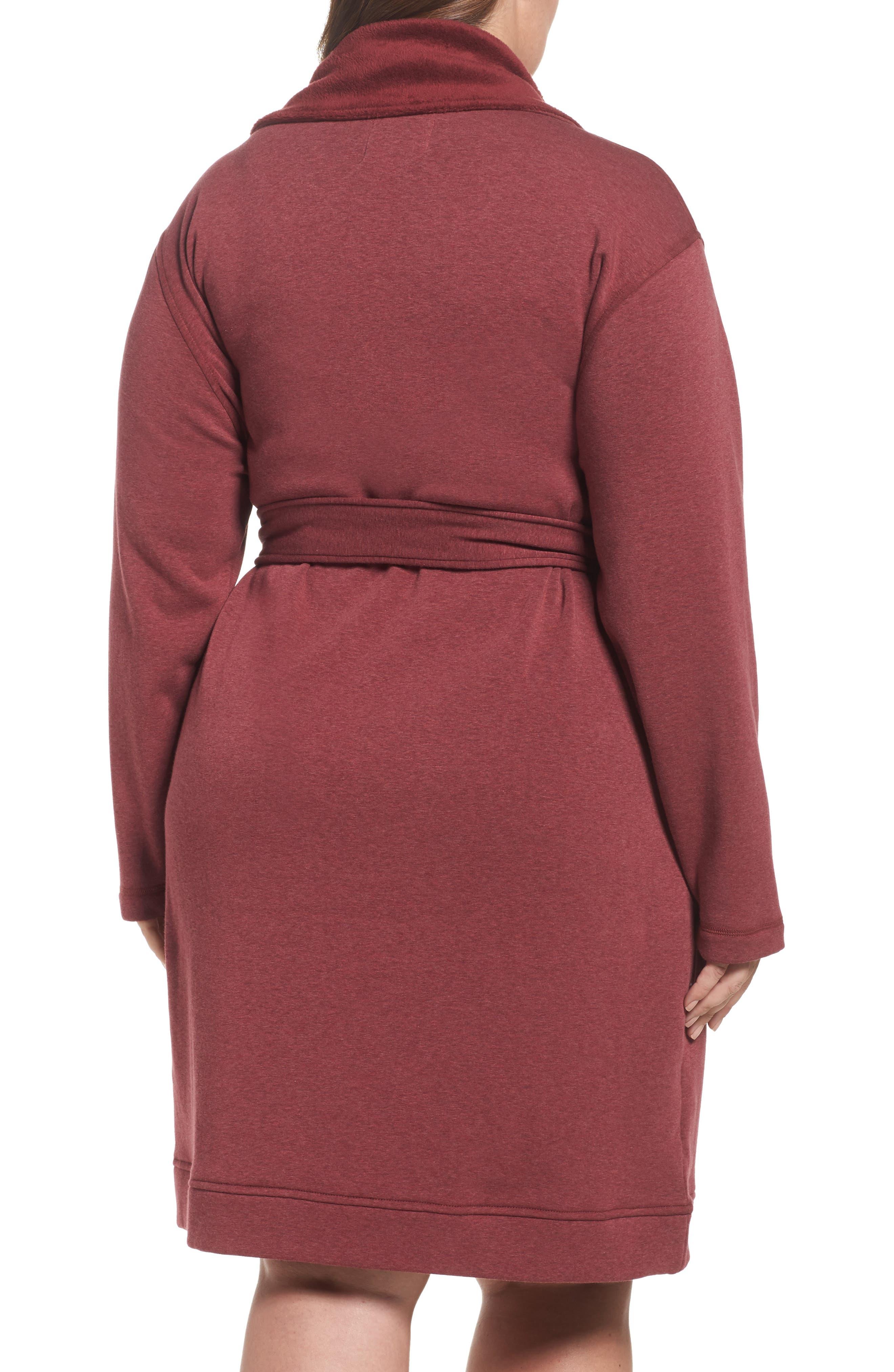 Alternate Image 2  - UGG® 'Blanche' Plush Shawl Collar Robe (Plus Size)