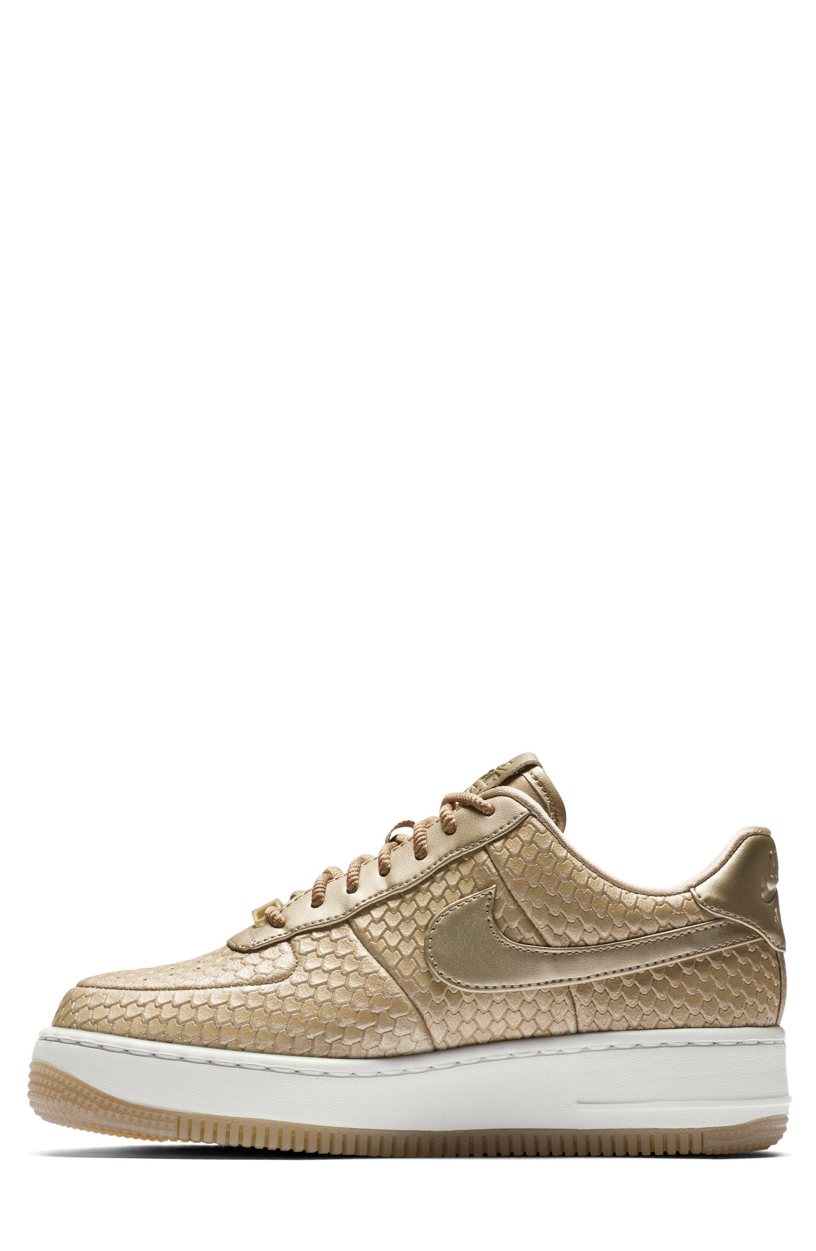 Air Force 1 Upstep Premium Platform Sneaker,                             Alternate thumbnail 2, color,                             Blur/ Blur/ Summit White