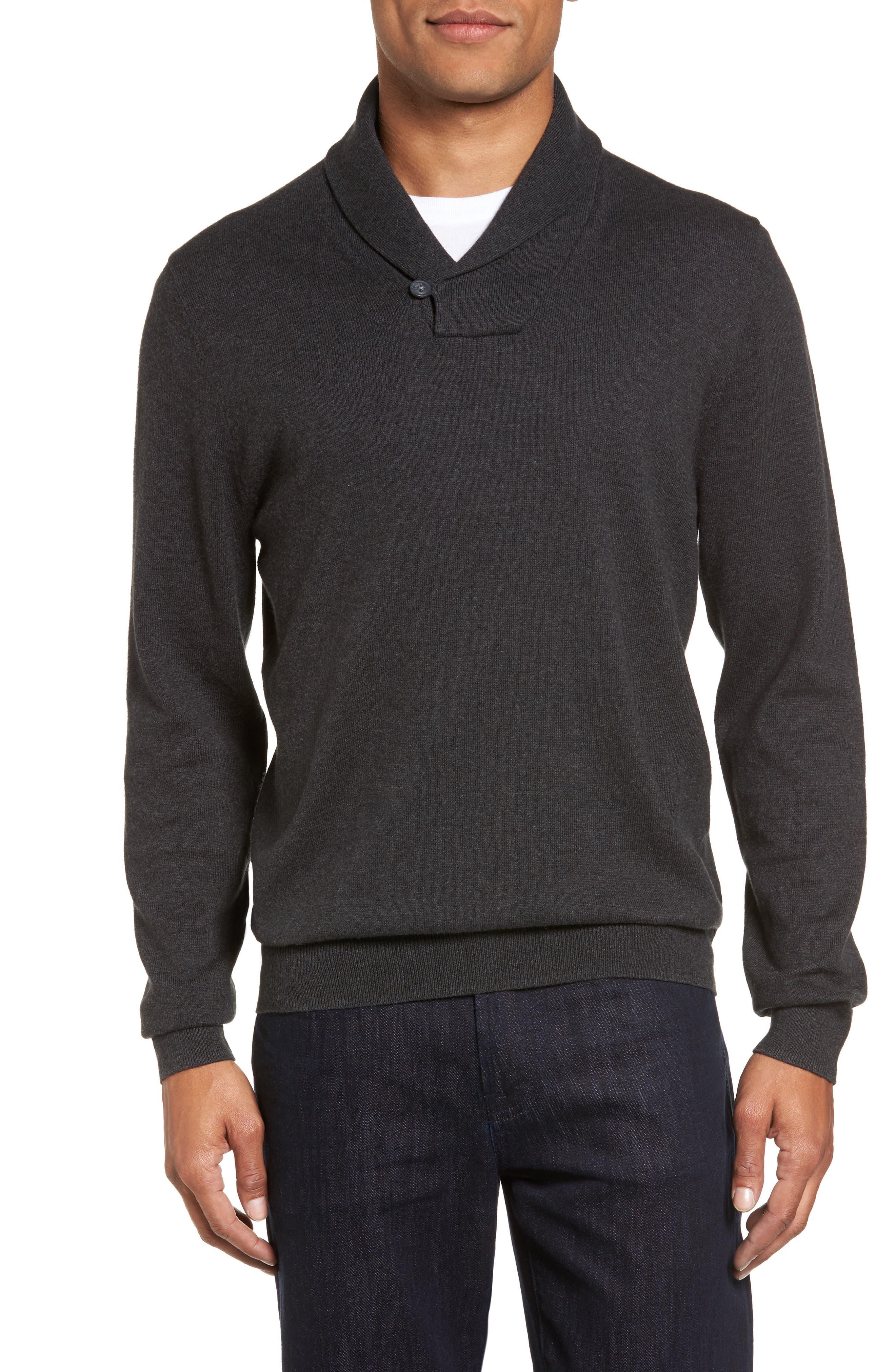 Alternate Image 1 Selected - Nordstrom Men's Shop Shawl Collar Sweater (Big)