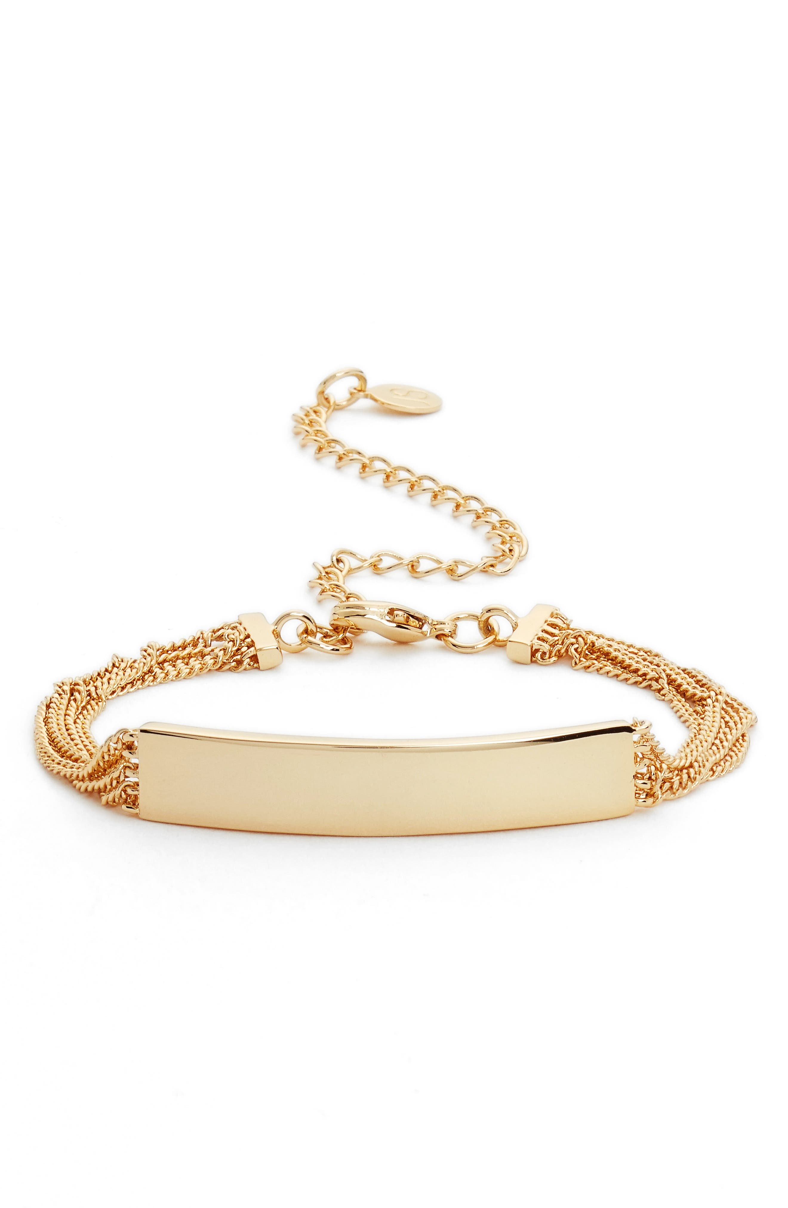 Thera ID Bracelet,                         Main,                         color, Gold