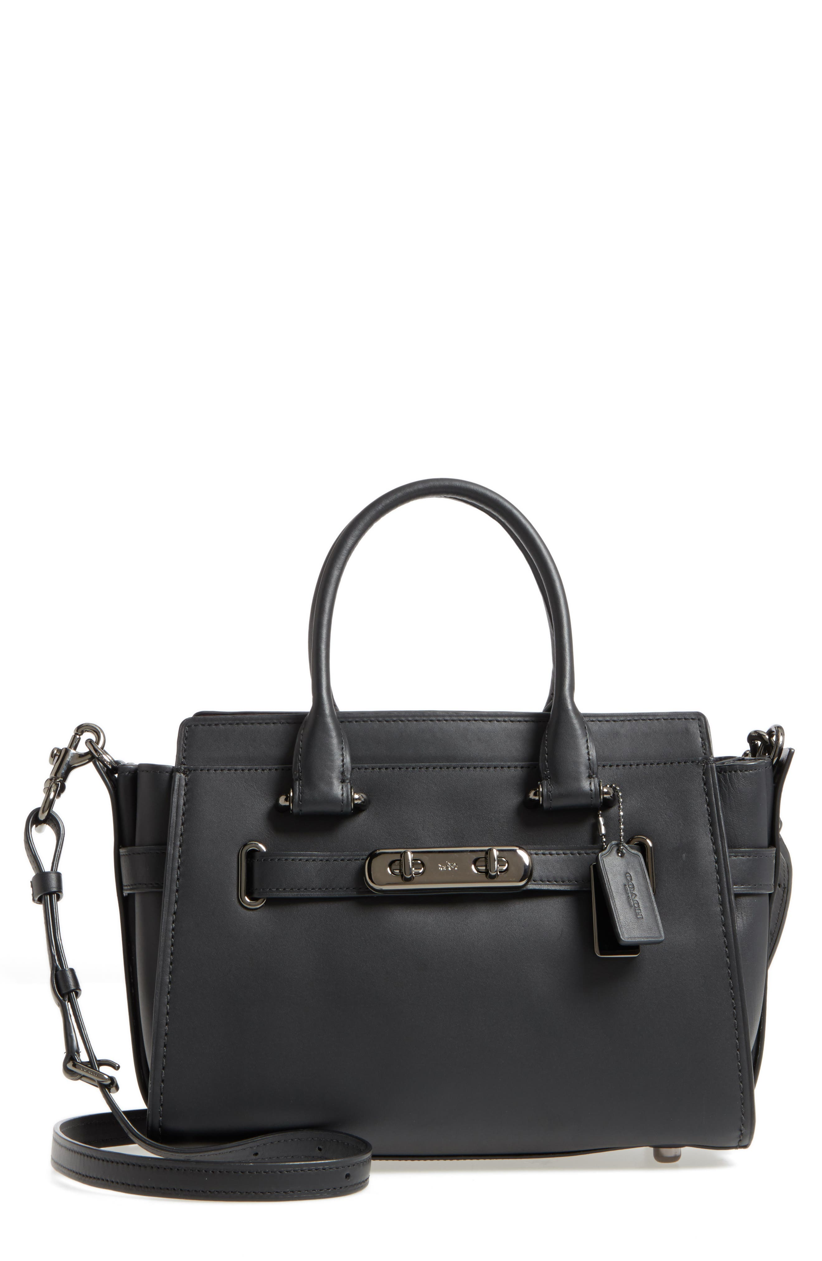 COACH Swagger 27 Calfskin Leather Satchel