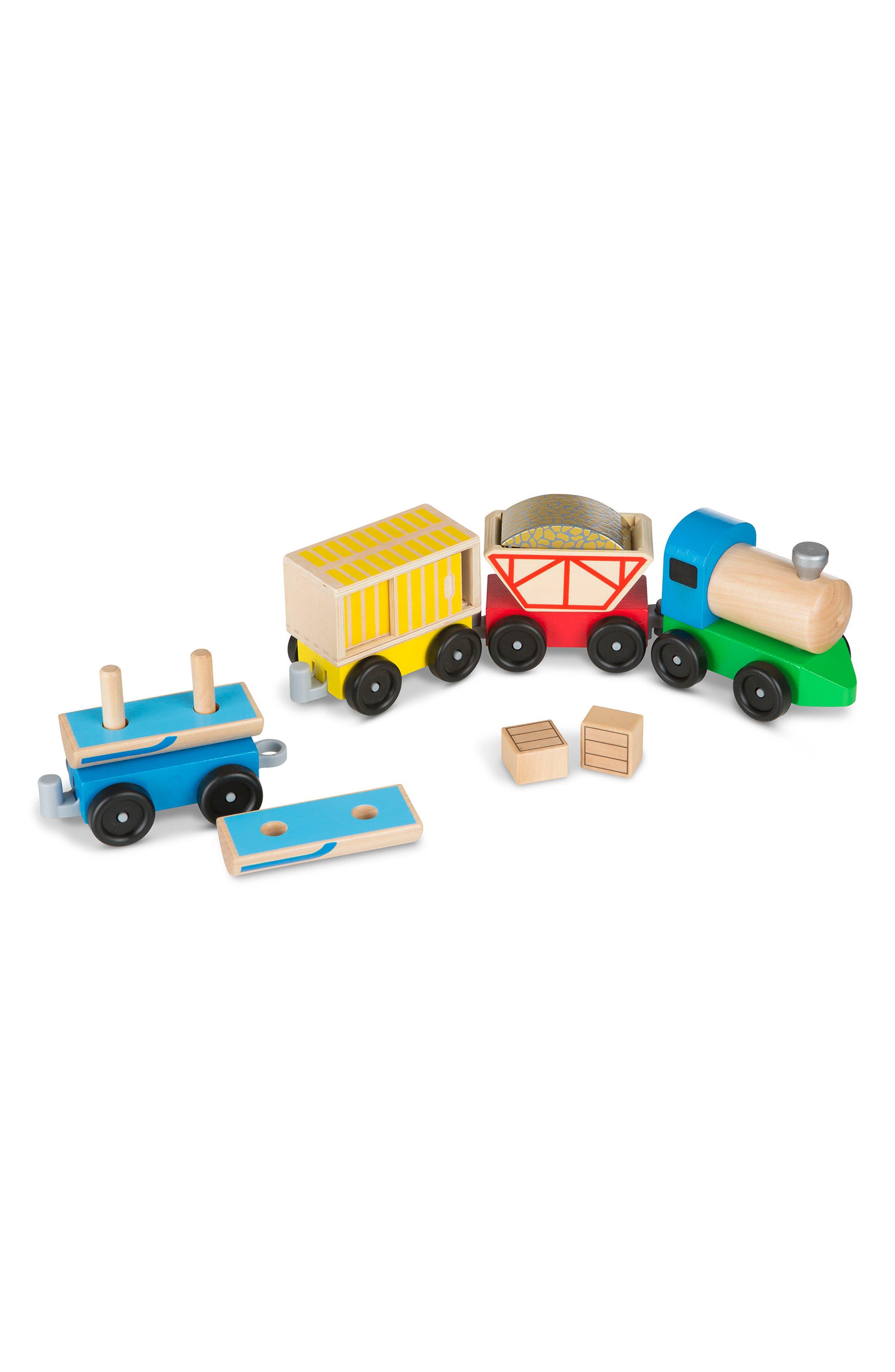 Cargo Train Set,                         Main,                         color, Wood