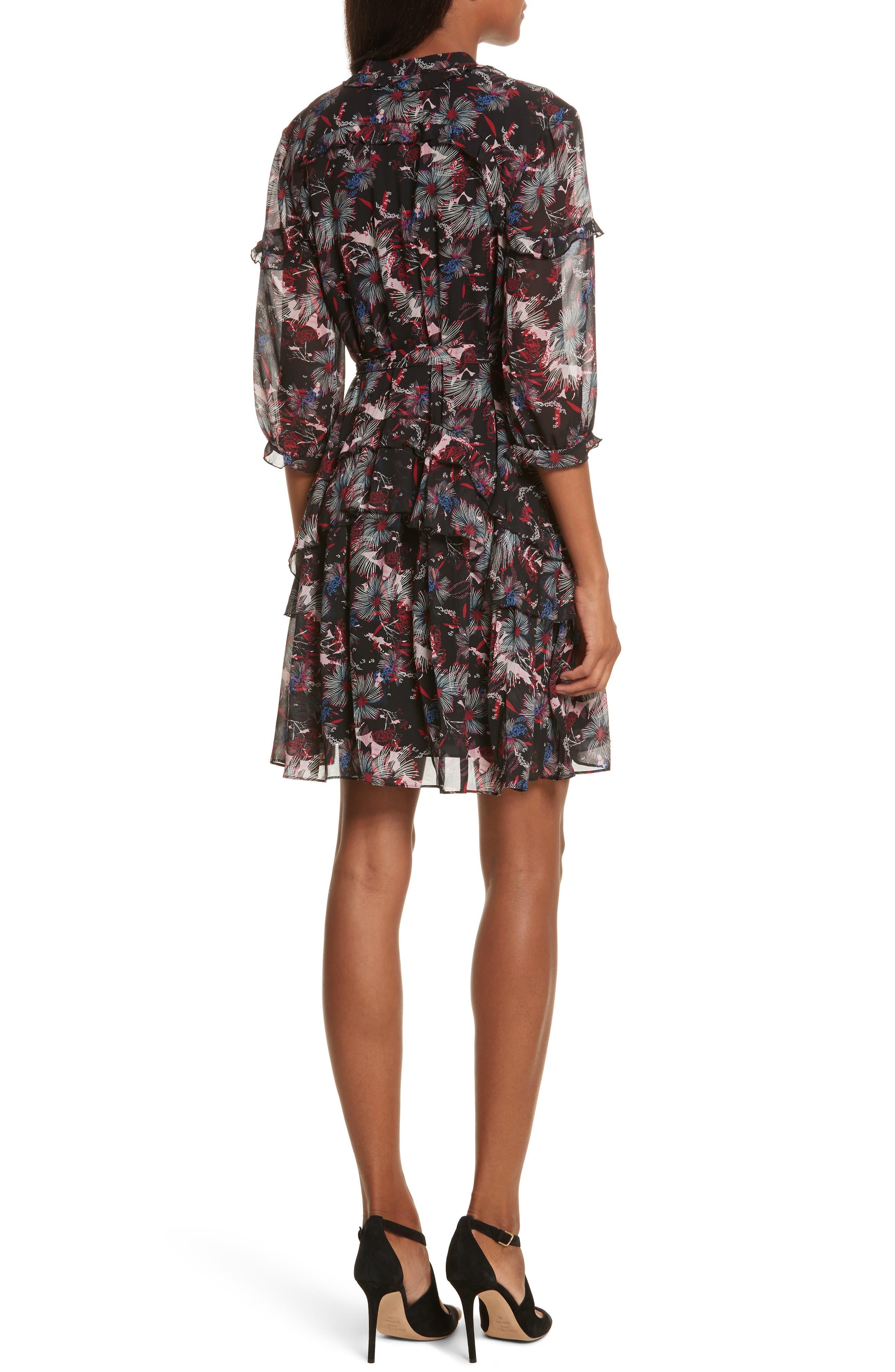 Alternate Image 2  - SALONI Tilly Ruffle Silk Dress