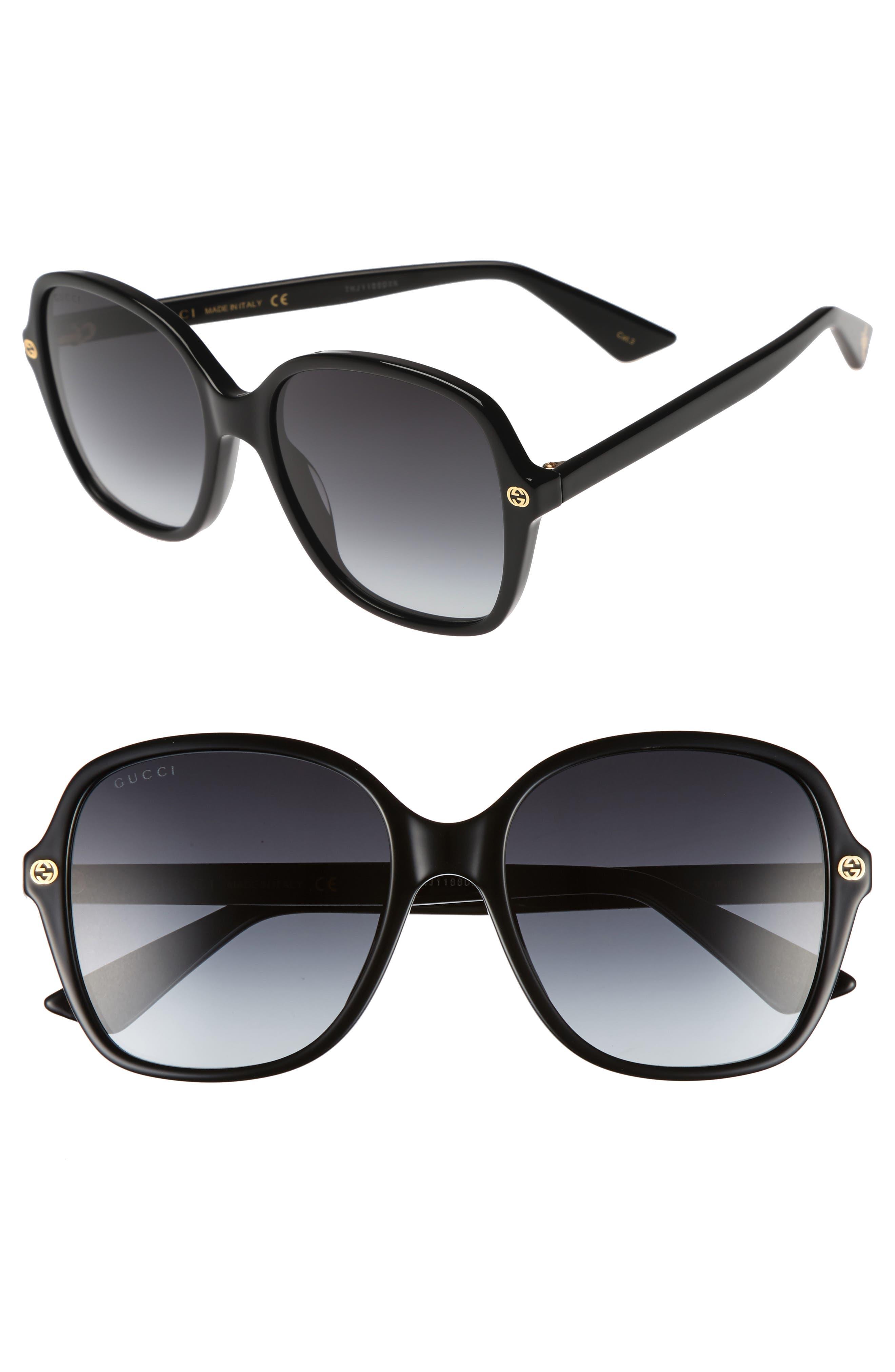 Main Image - Gucci 55mm Gradient Sunglasses