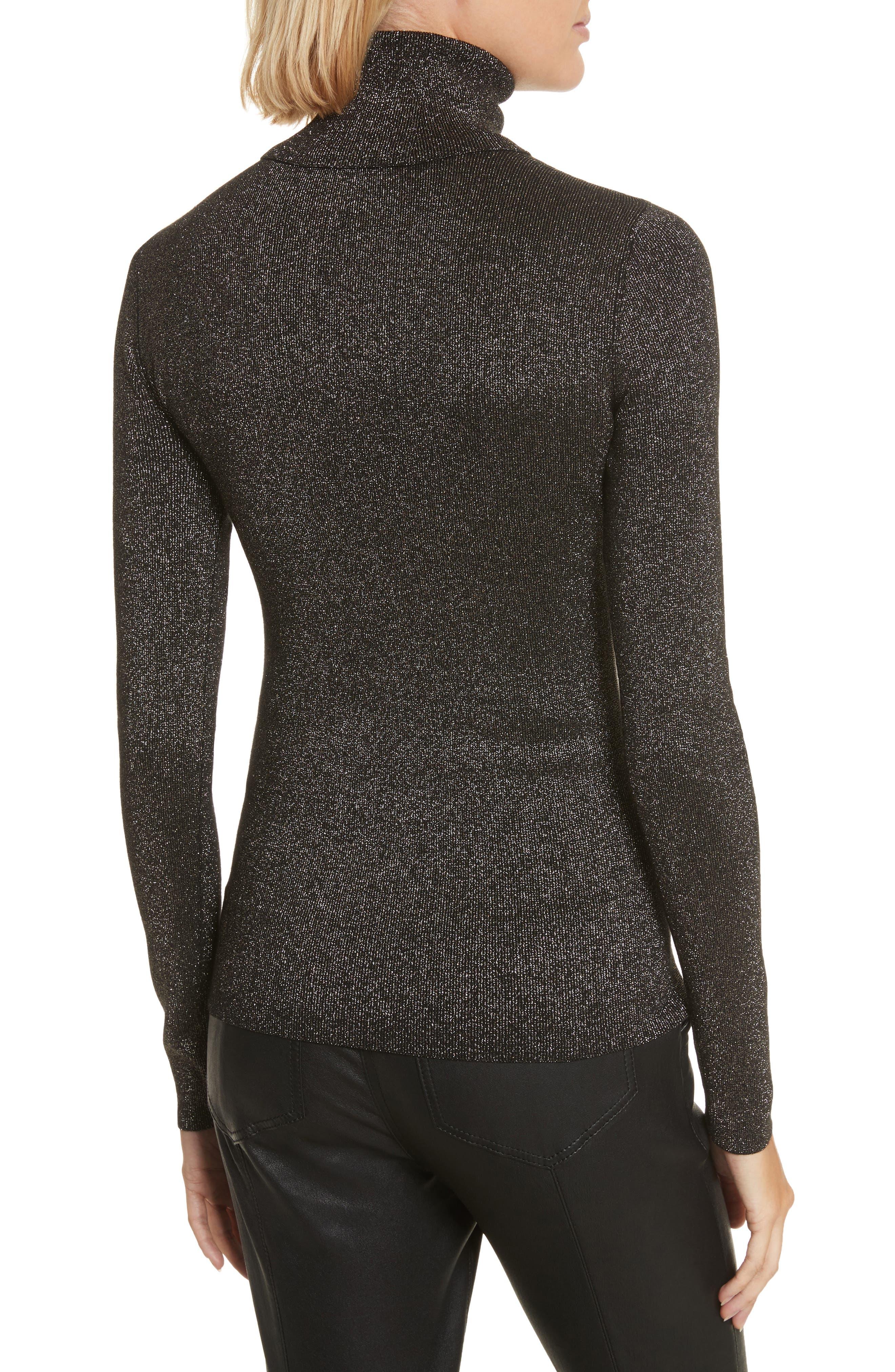 Camden Cutout Sweater,                             Alternate thumbnail 2, color,                             Black/ Gold