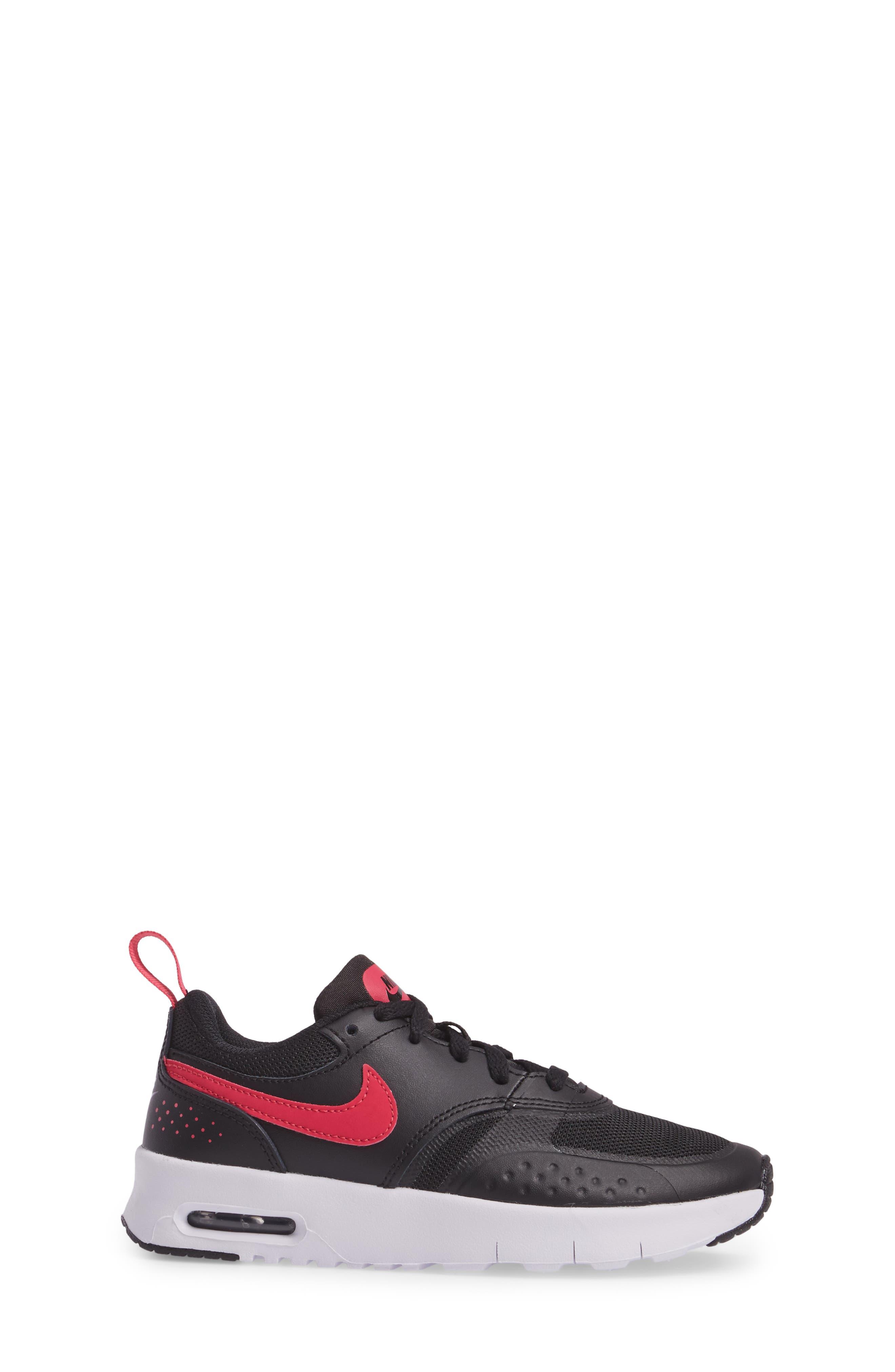 Air Max Vision Sneaker,                             Alternate thumbnail 3, color,                             Black/ Pink