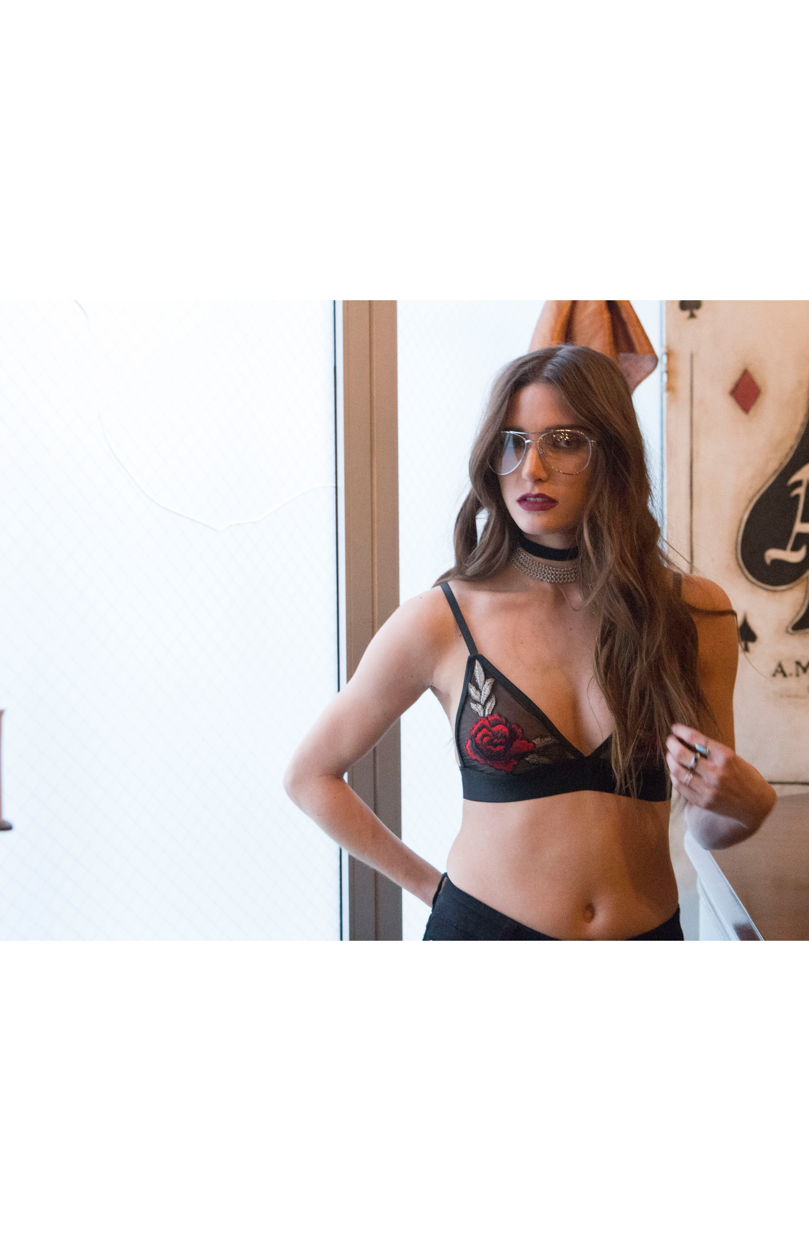 De la Rosa Bralette,                             Alternate thumbnail 2, color,                             Black