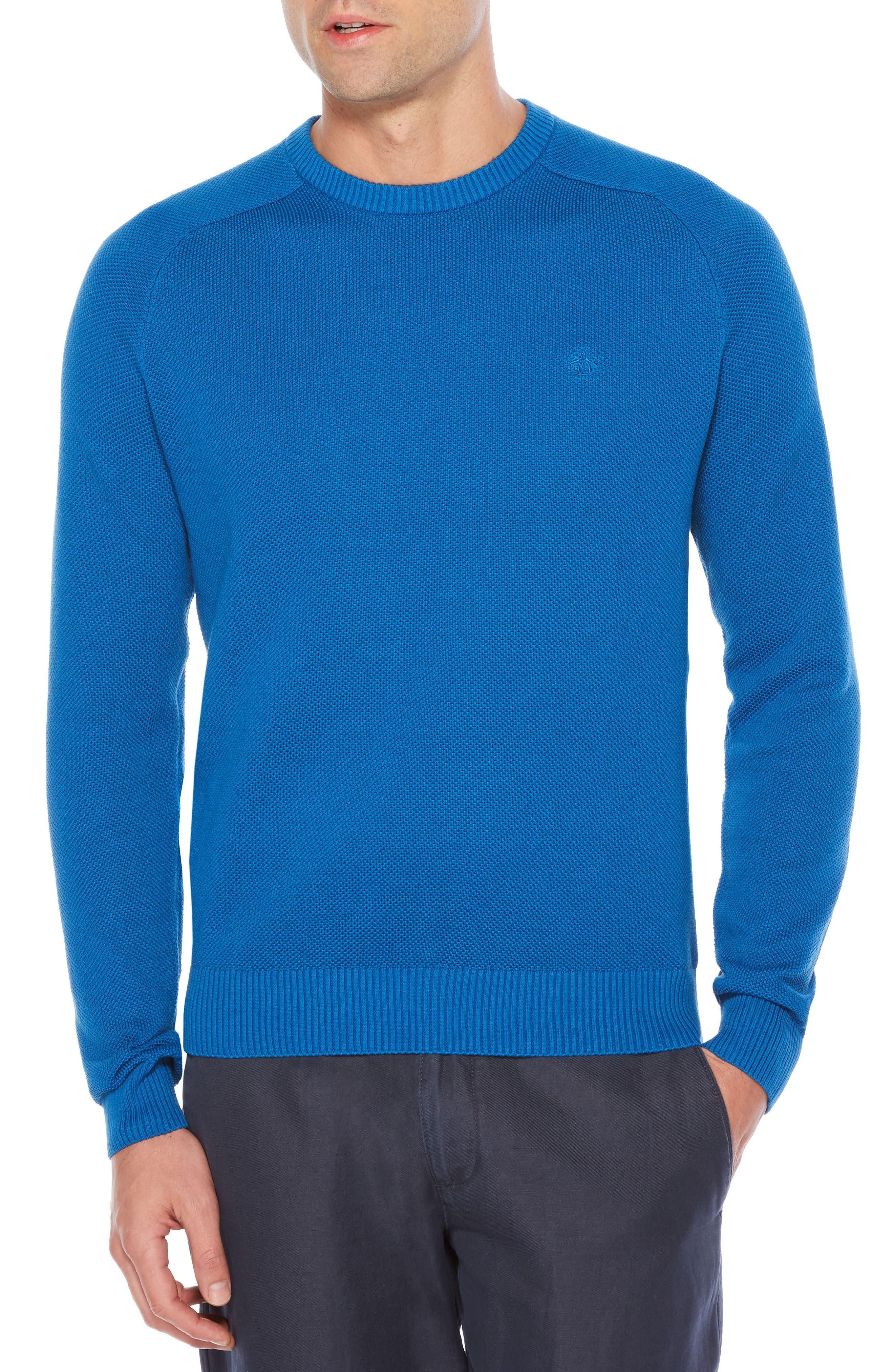 Main Image - Original Penguin Honeycomb Piqué Sweater