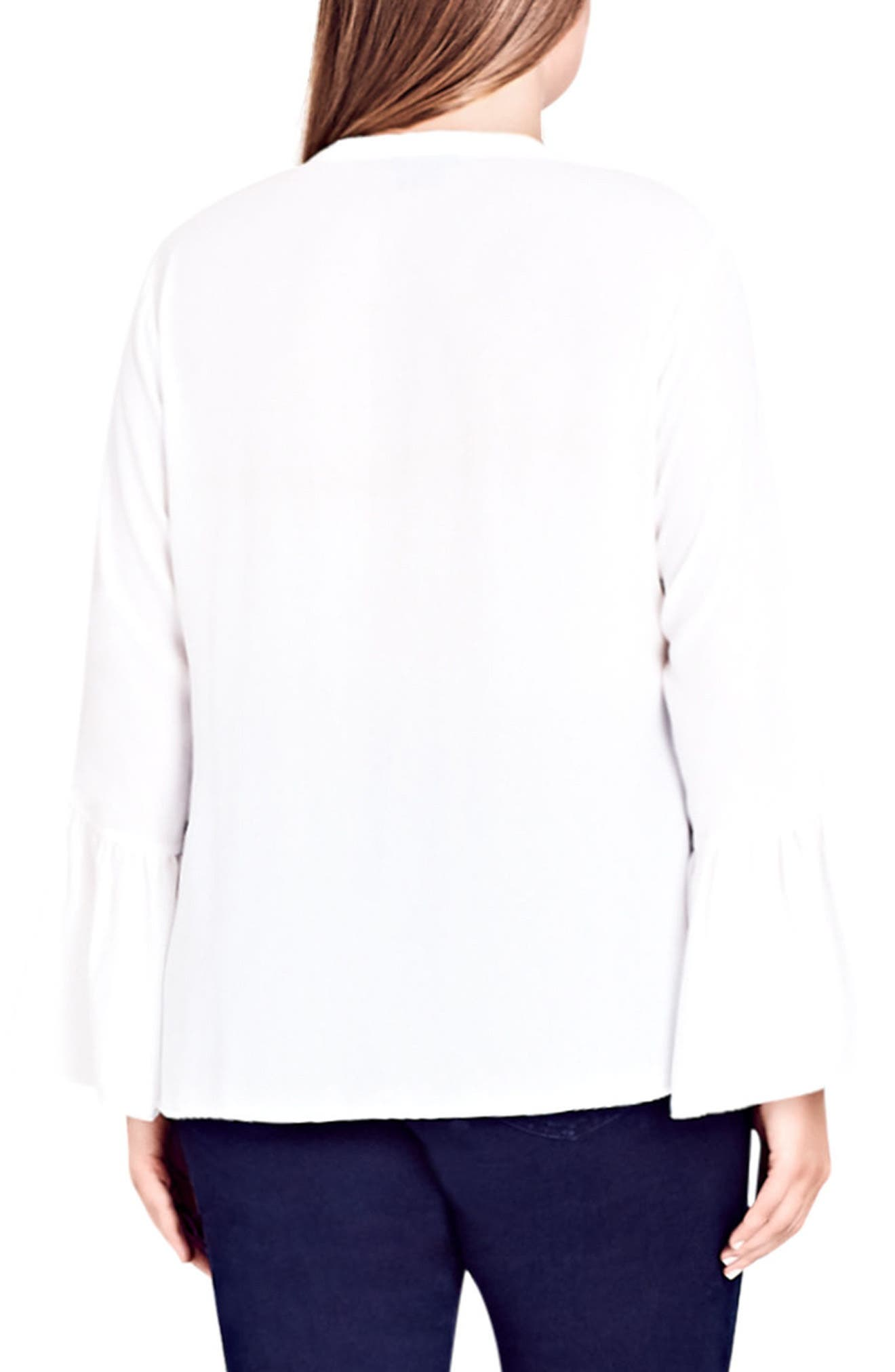 Alternate Image 2  - City Chic Office Fling Shirt (Plus Size)