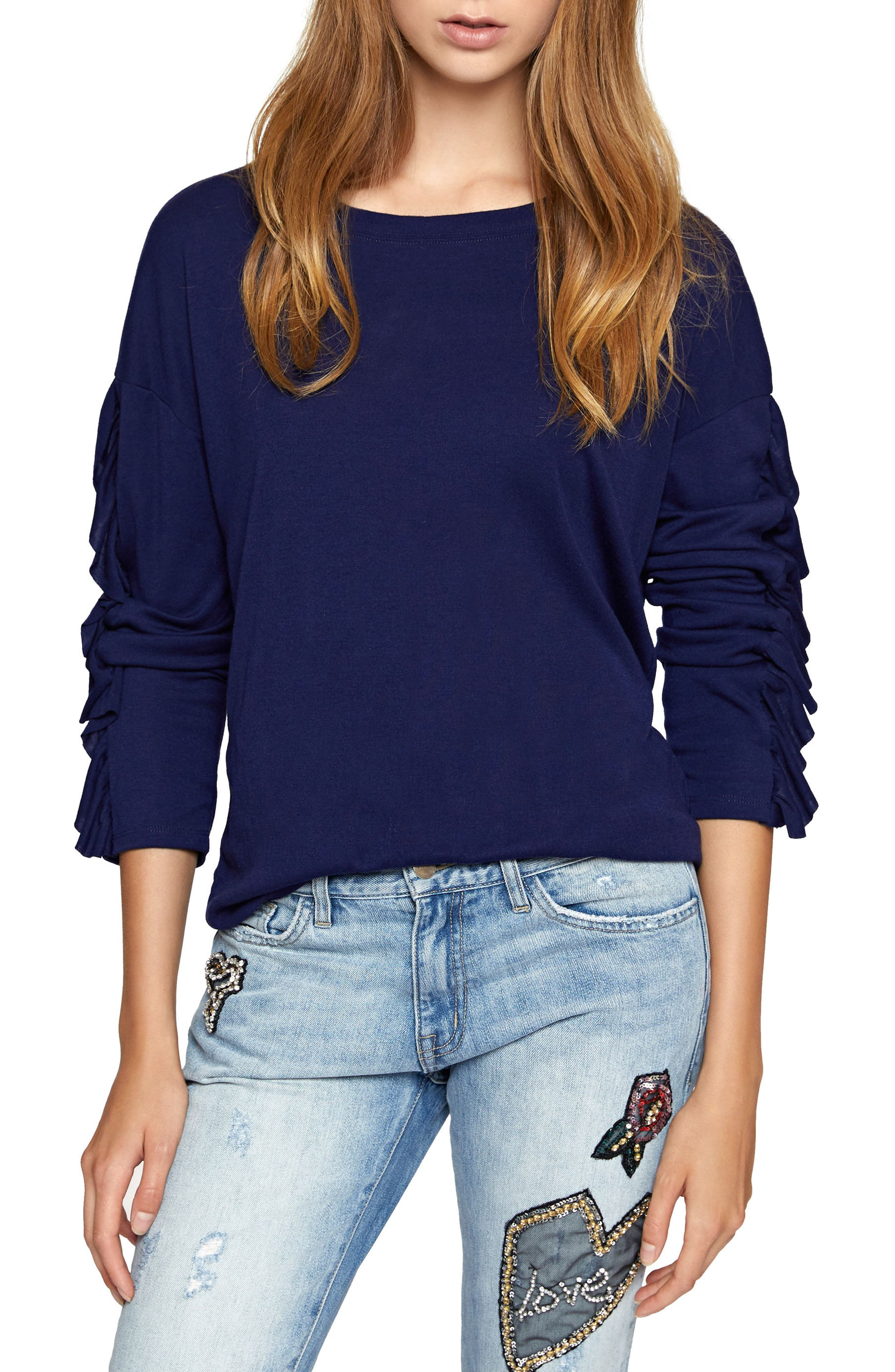Sanctuary Leona Ruffle Sleeve Sweater (Regular & Petite)