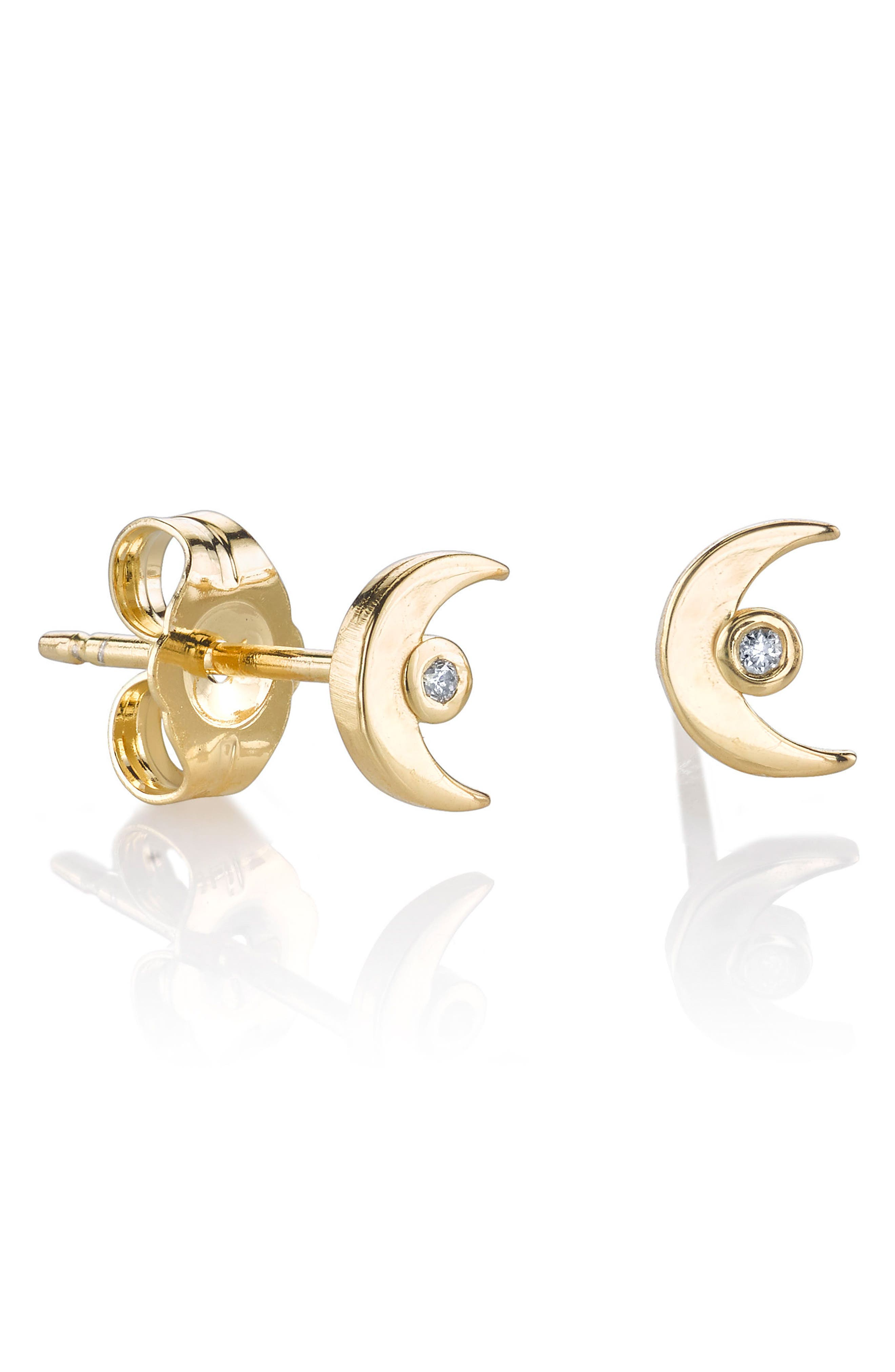 Main Image - Shy by SE Crescent Stud Earrings