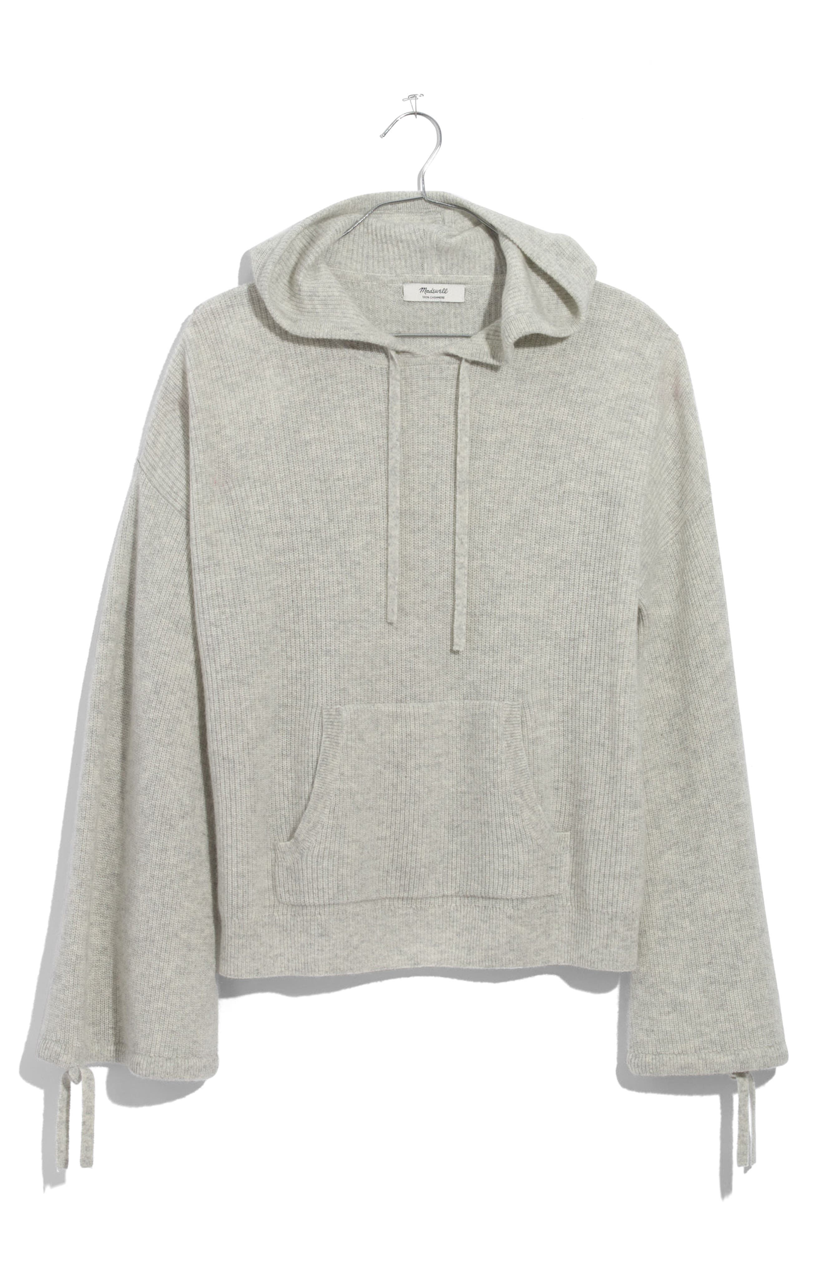 Cashmere Hooded Sweater,                         Main,                         color, Heather Silver
