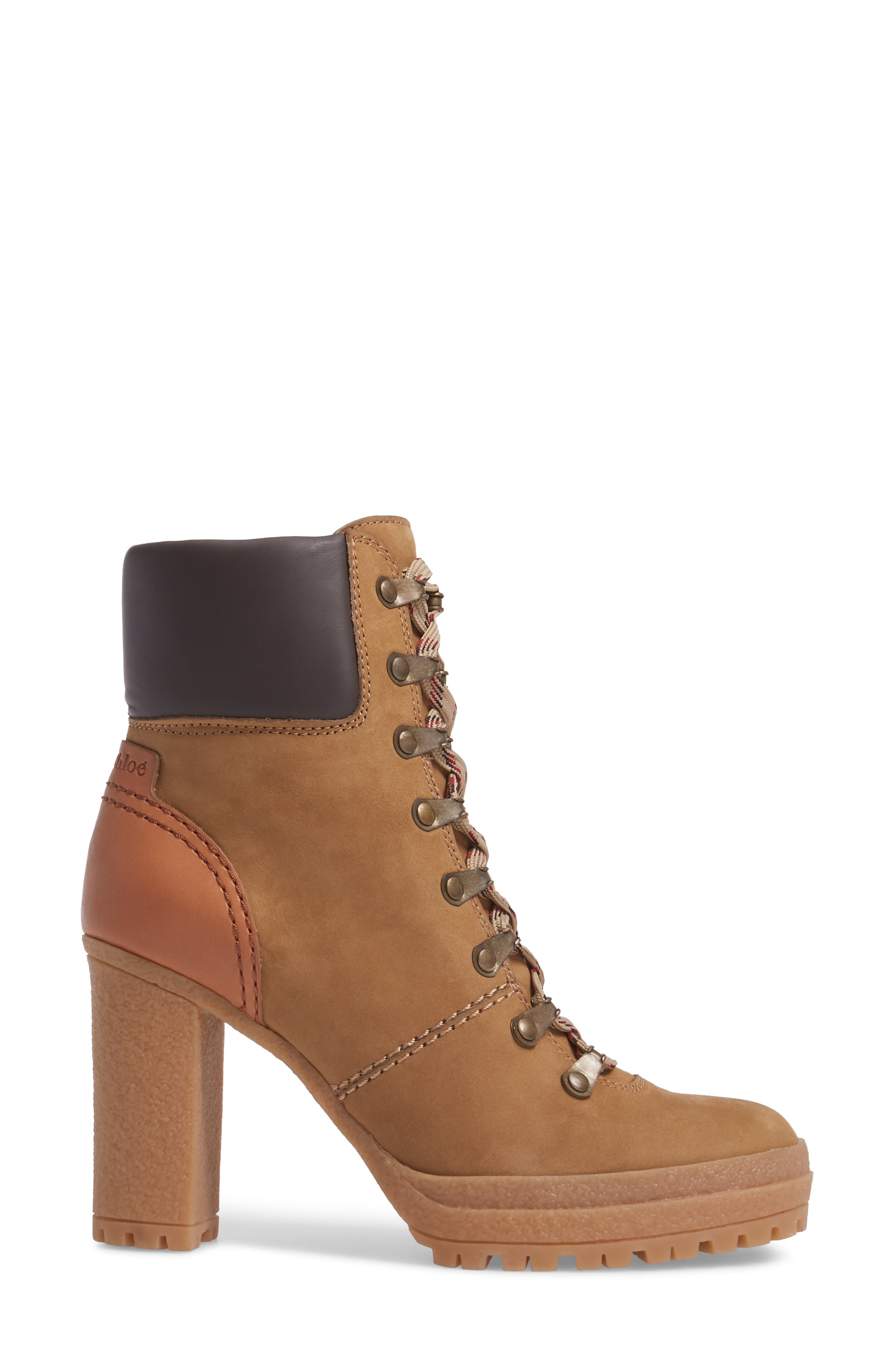 Eileen Platform Boot,                             Alternate thumbnail 3, color,                             Taupe