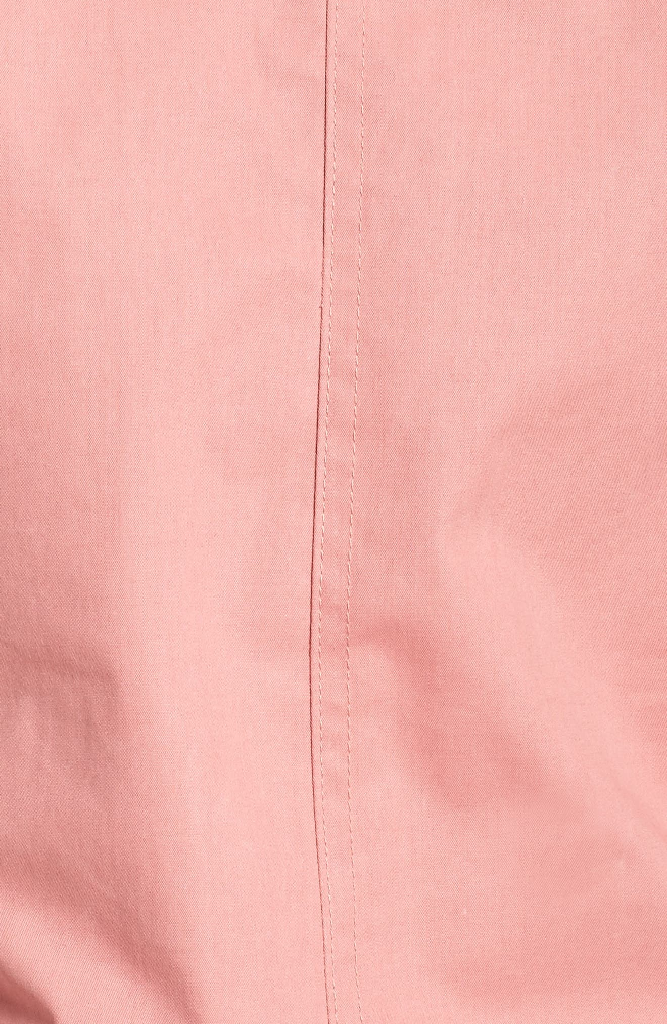 Hazel Waterproof Hooded Jacket with Removable Faux Fur Trim,                             Alternate thumbnail 5, color,                             Dusty Rose Wax