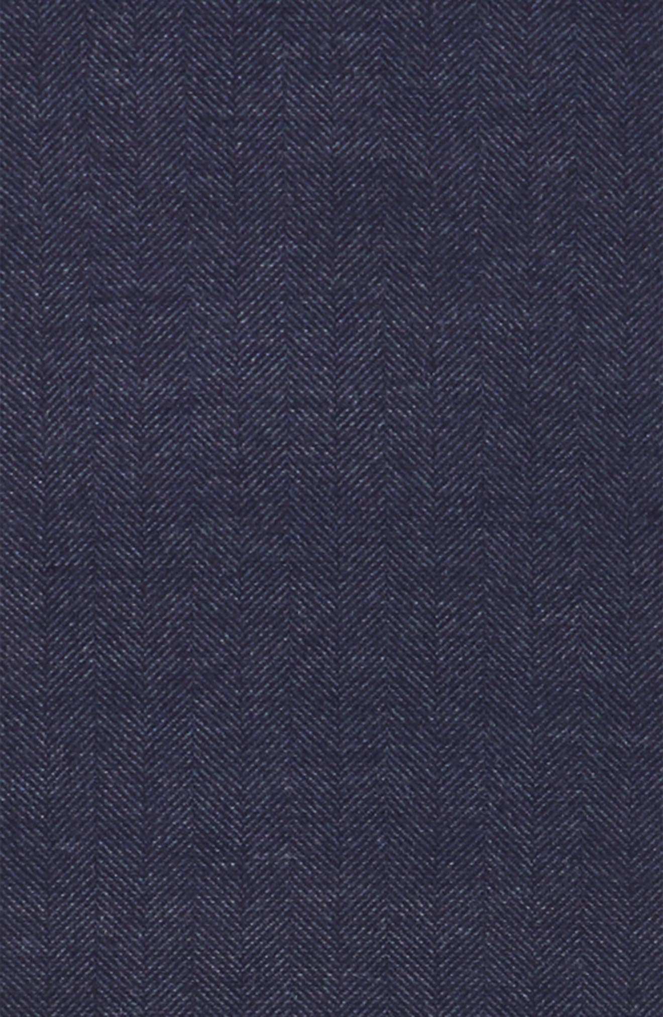 Alternate Image 3  - Nordstrom Men's Shop Herringbone Silk Blend Scarf