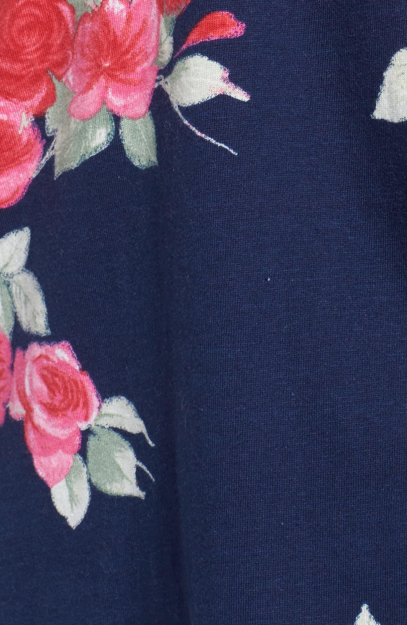 Floral Print Pajamas,                             Alternate thumbnail 6, color,                             Painted Rose