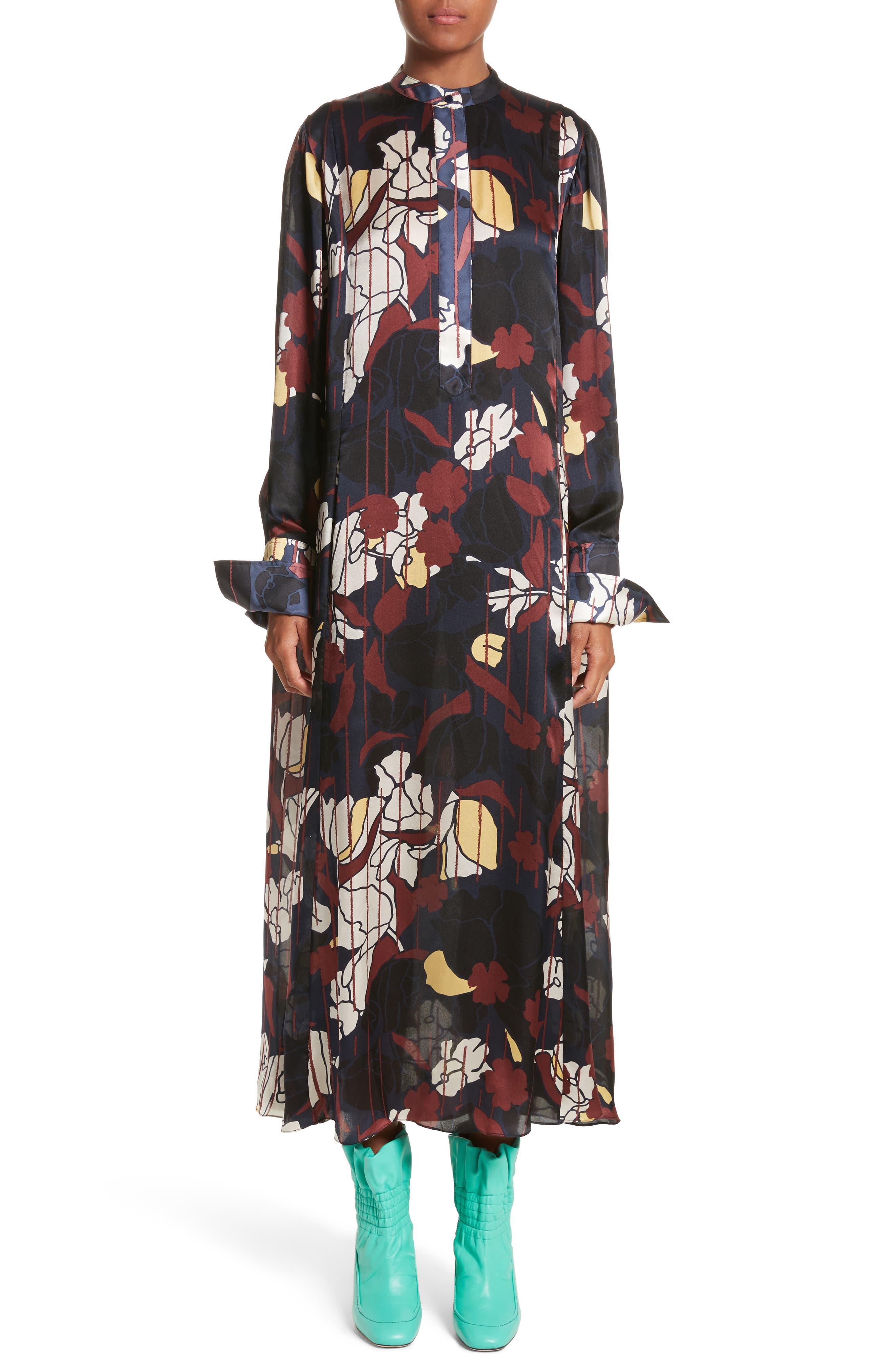 Alternate Image 1 Selected - Roksanda Anwyn Floral Silk Dress