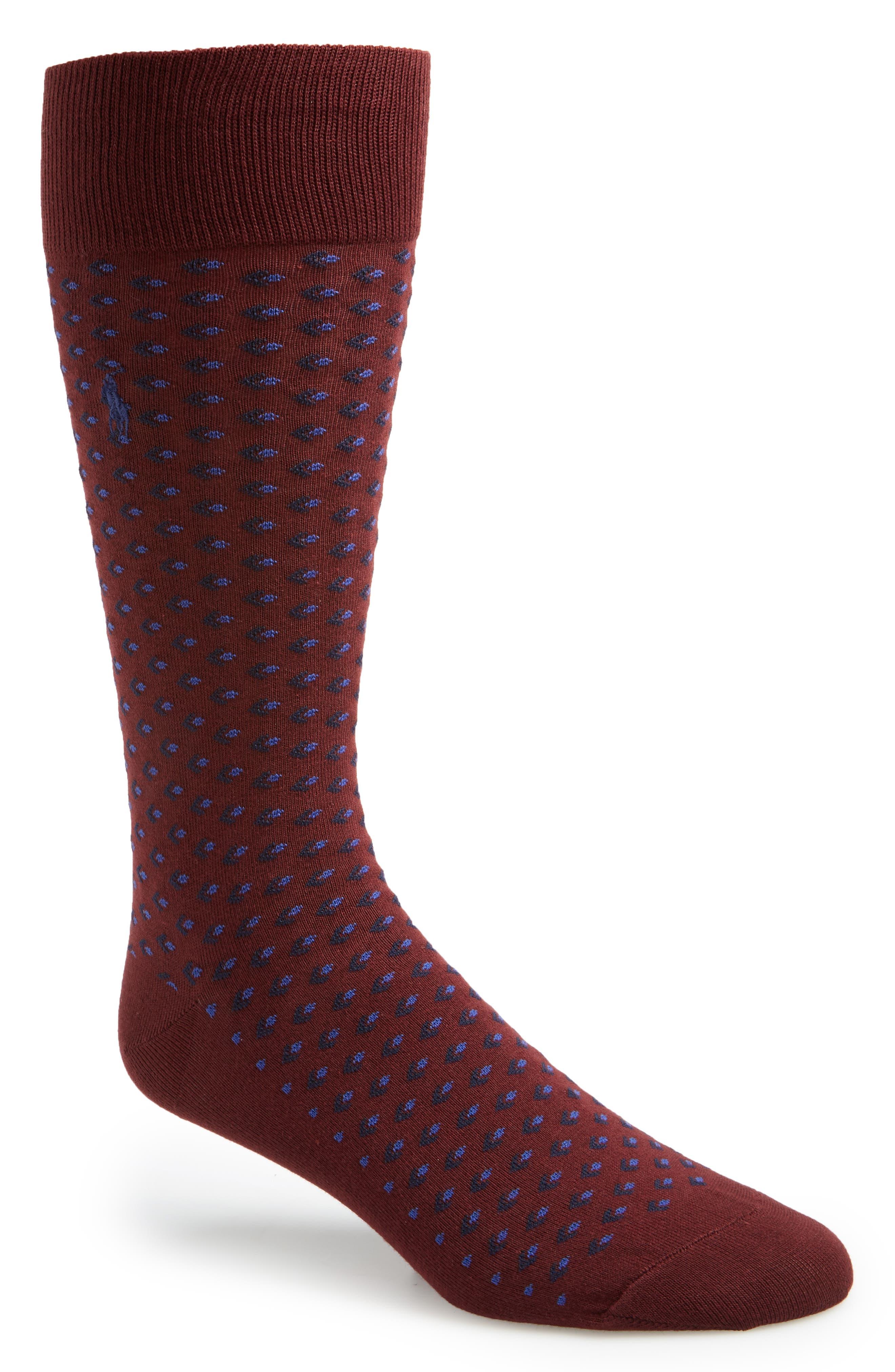 Alternate Image 1 Selected - Polo Ralph Lauren Diamond Pattern Socks