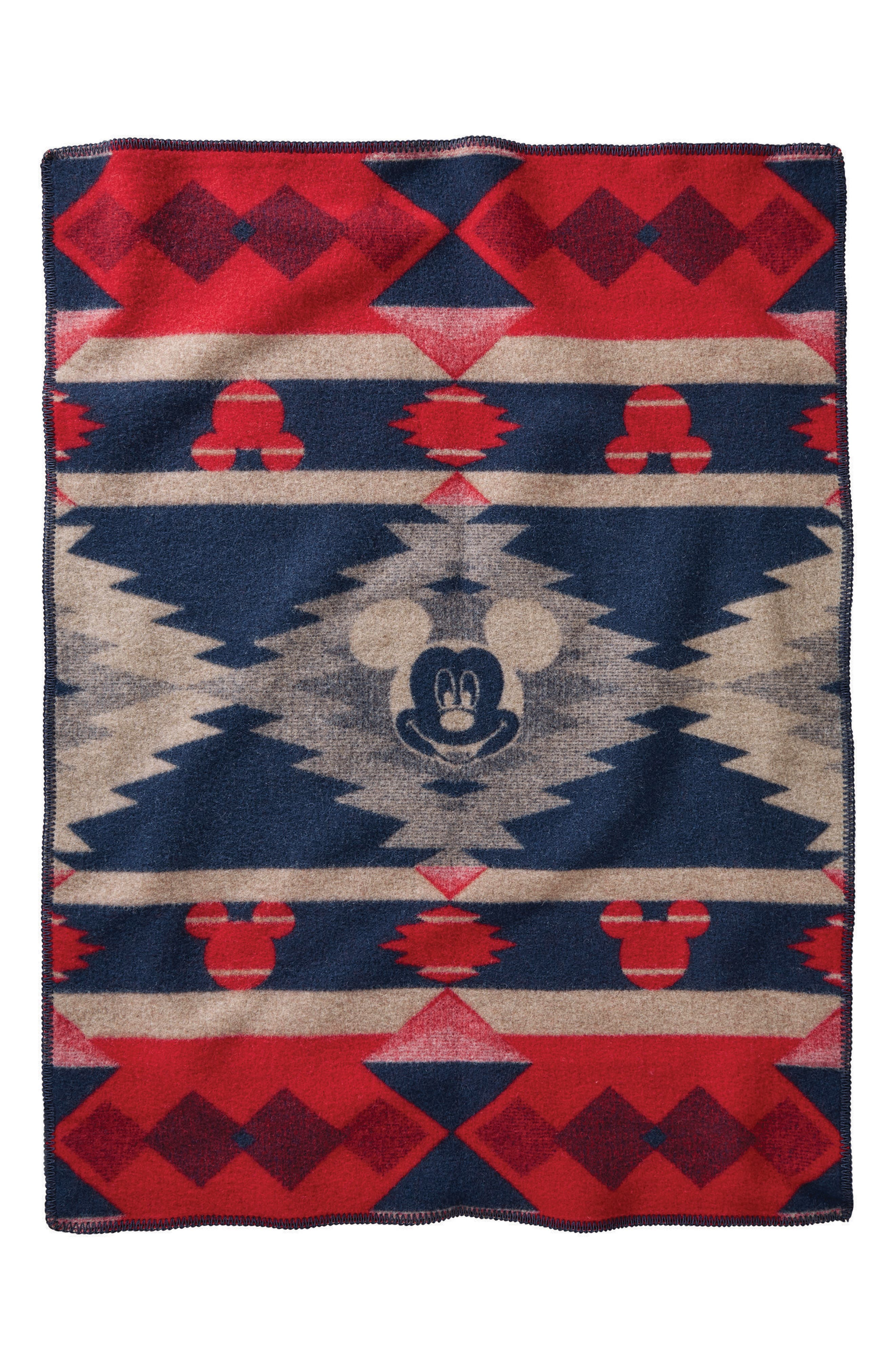 Disney - Mickey's Frontier Crib Blanket,                             Alternate thumbnail 2, color,                             Red