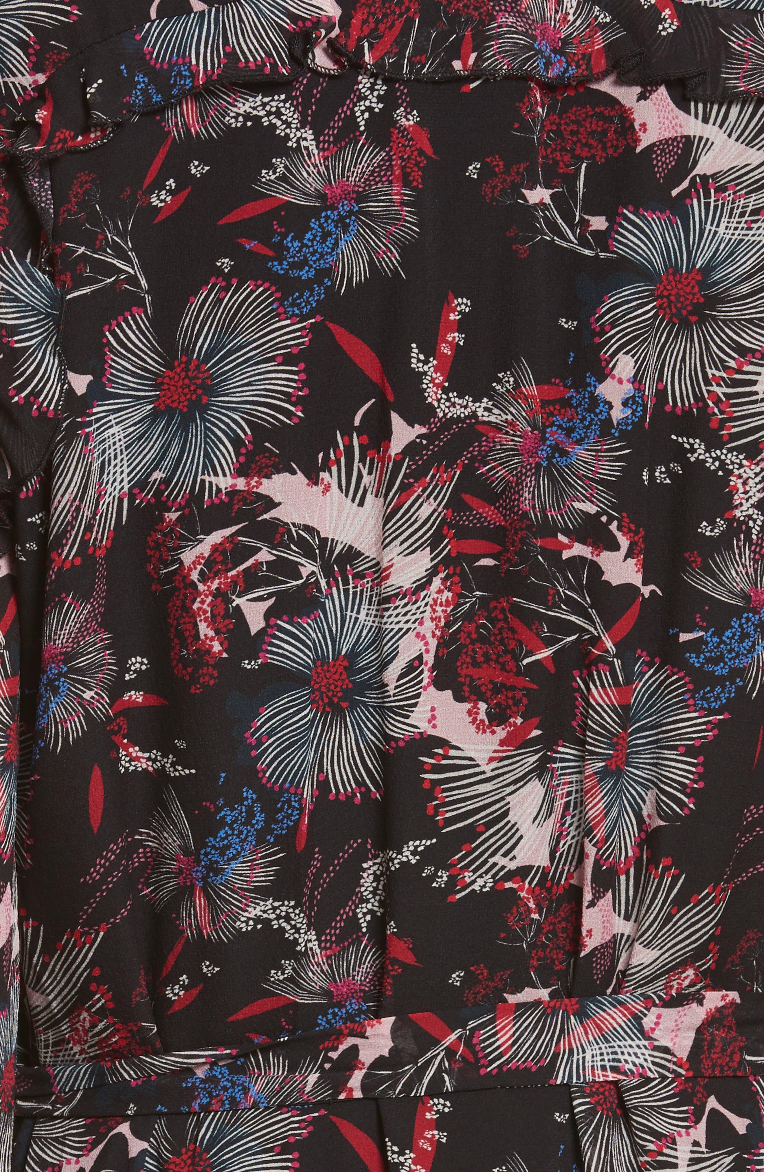Alternate Image 5  - SALONI Tilly Ruffle Silk Dress