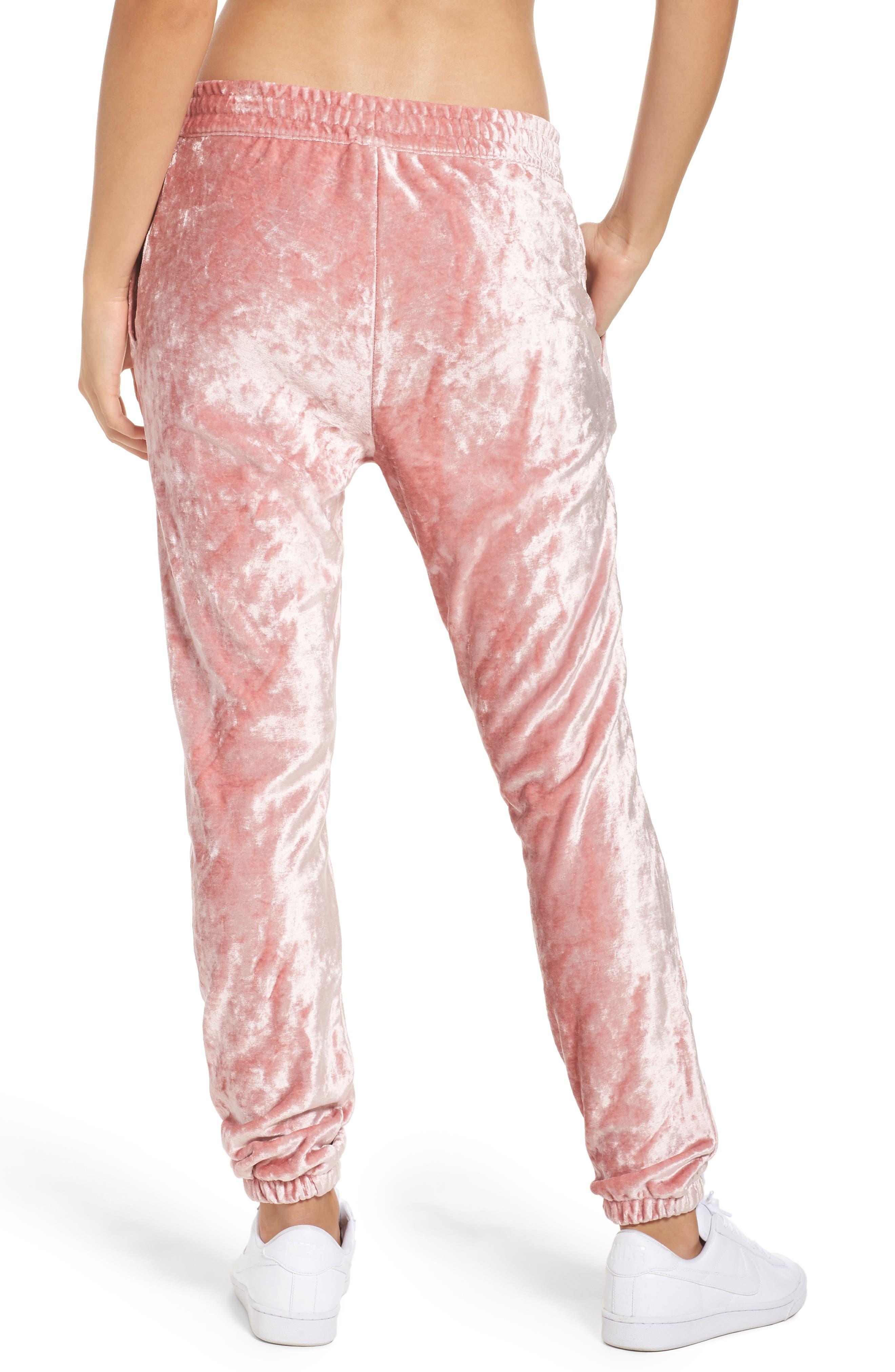 NikeLab Essentials Women's Velour Pants,                             Alternate thumbnail 2, color,                             Rust Pink