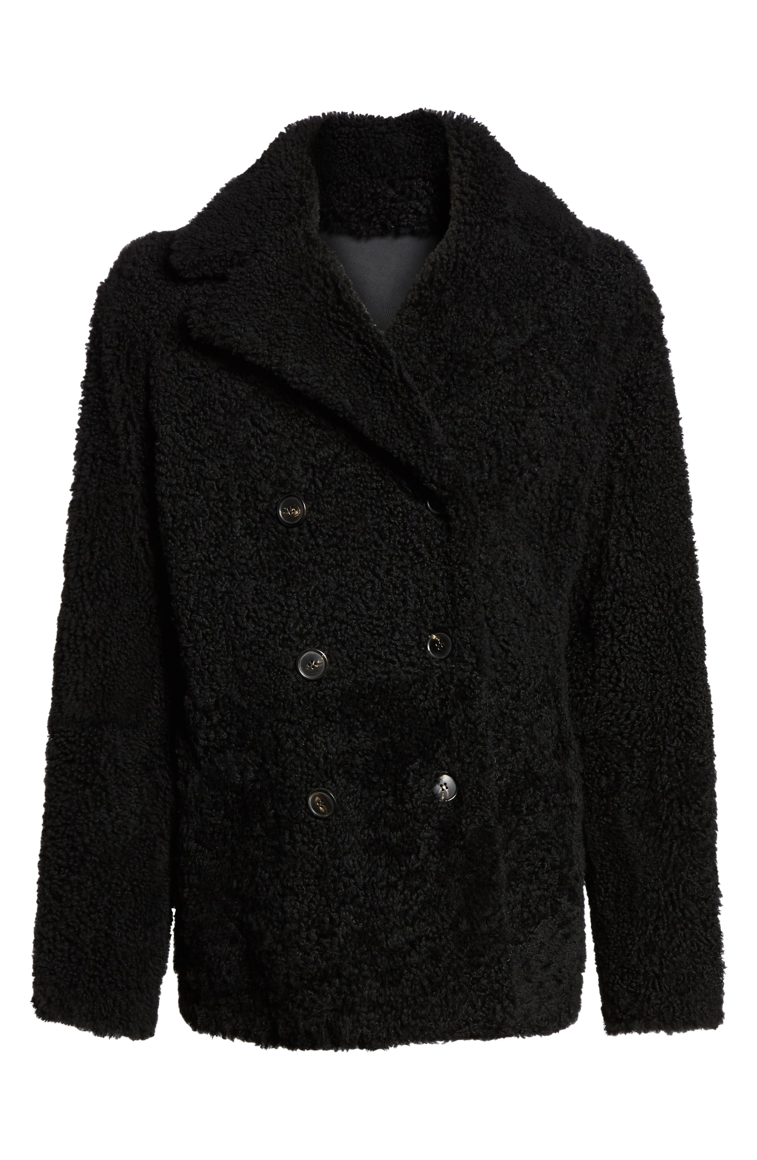 Alternate Image 6  - Theory Reversible Genuine Shearling Peacoat