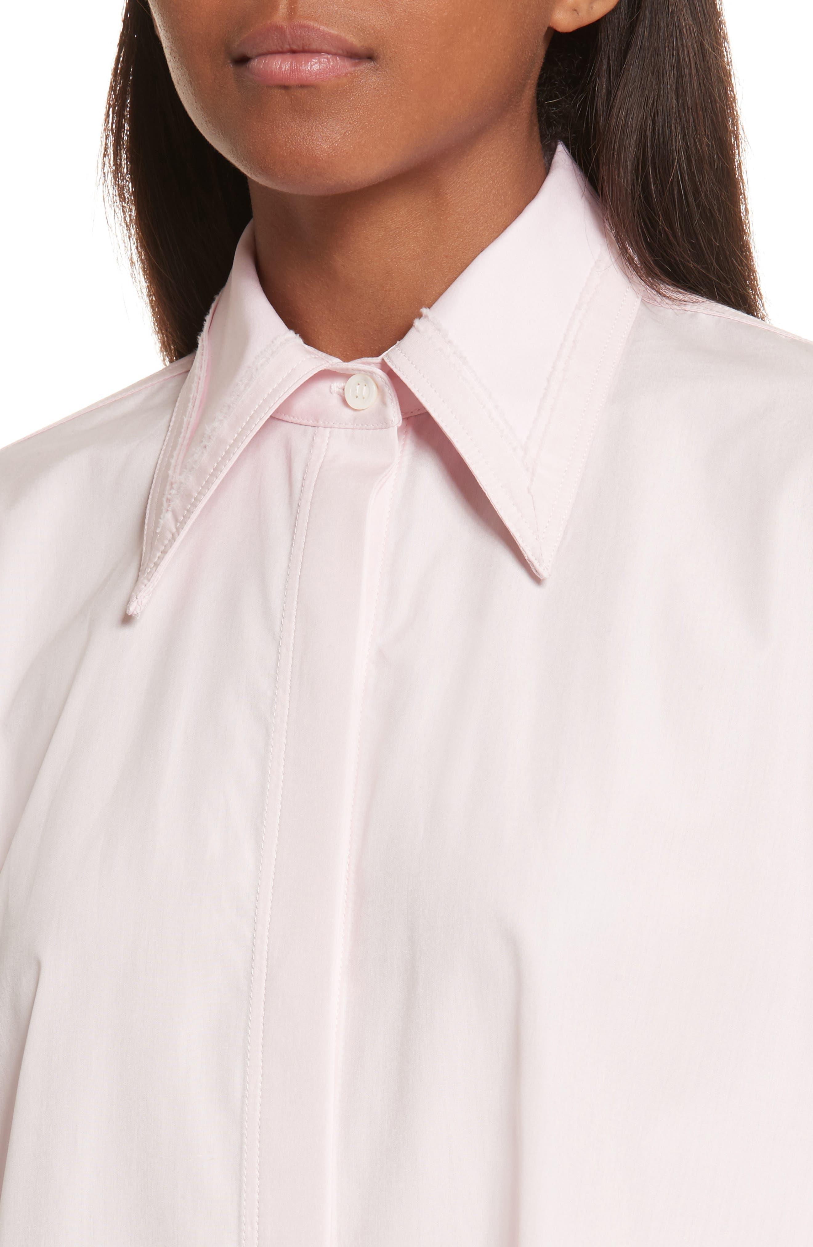 Alternate Image 4  - Helmut Lang Cutout Cotton Poplin Shirt