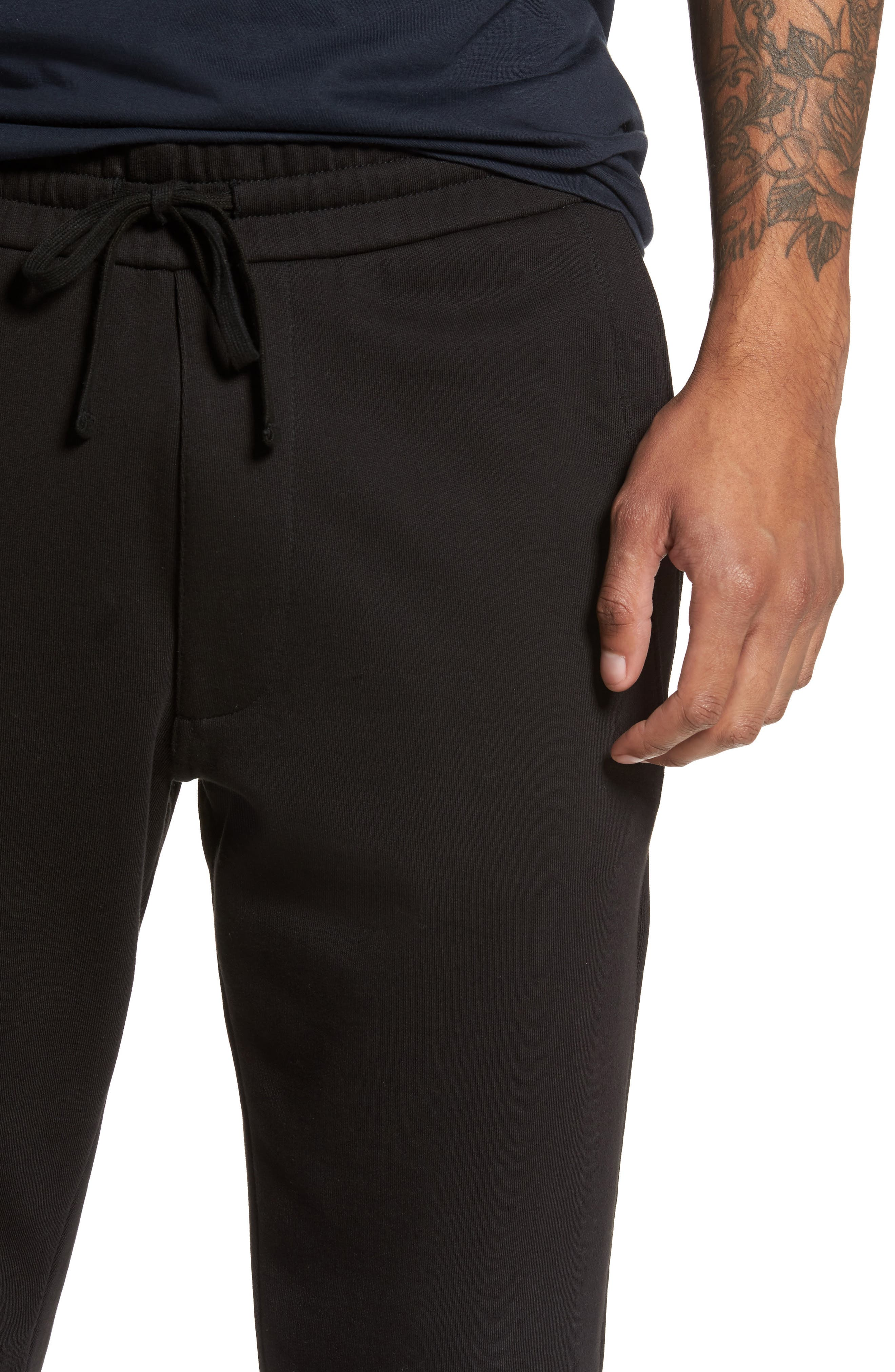 Cotton Sweatpants,                             Alternate thumbnail 4, color,                             Black