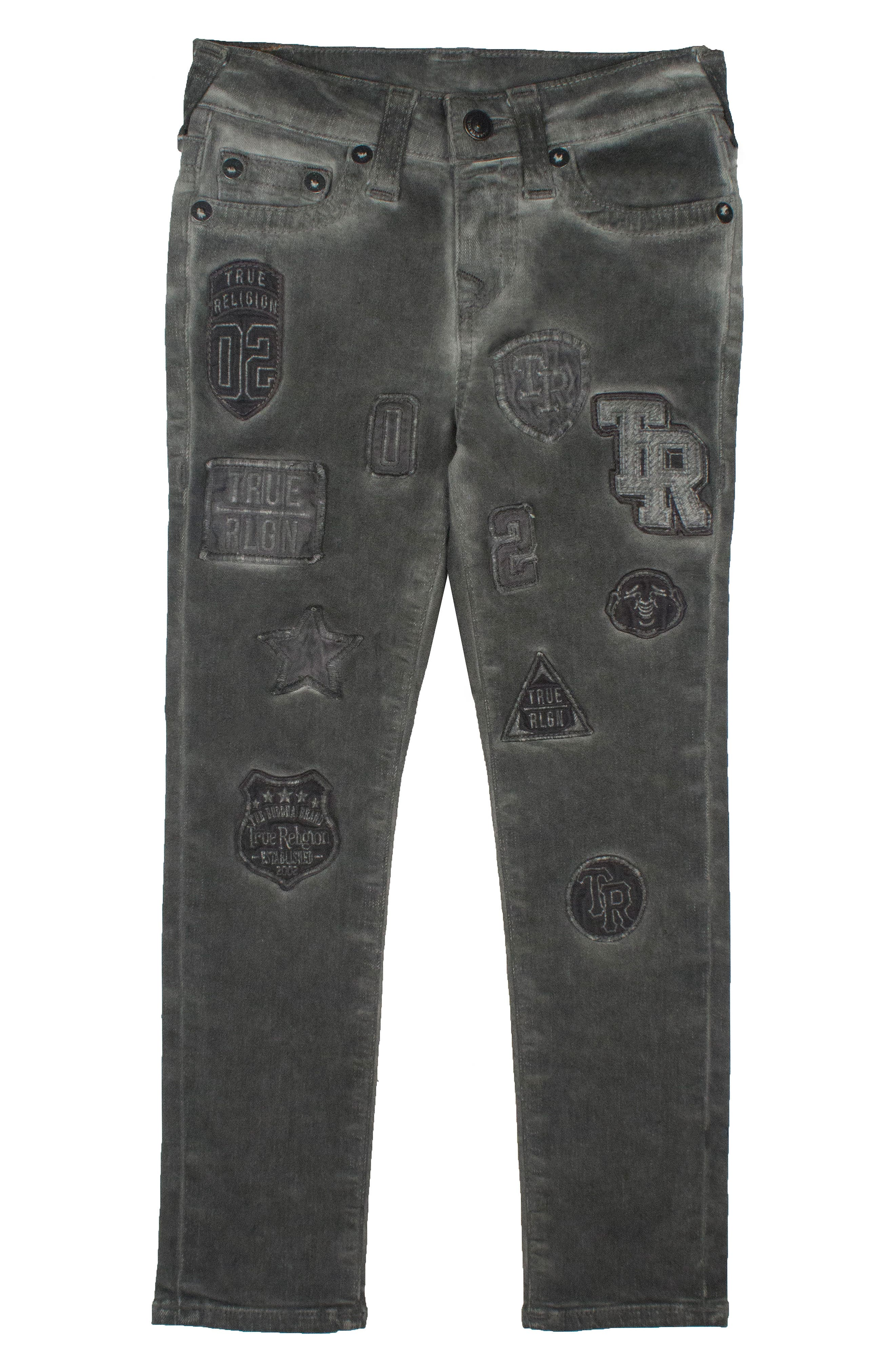 Rocco Single End Jeans,                             Main thumbnail 1, color,                             Grey Patched