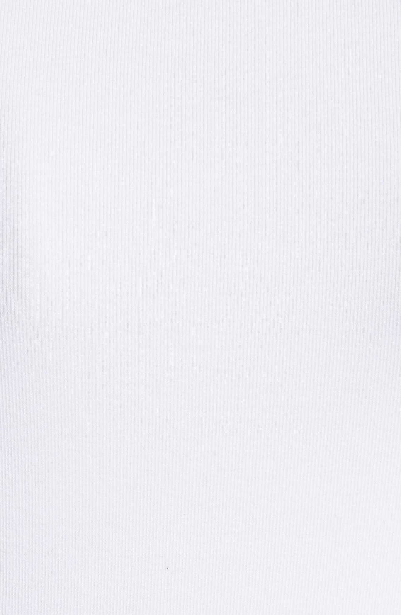 Alternate Image 5  - Fabiana Filippi Beaded Ribbed Cotton Blend Jersey Tank