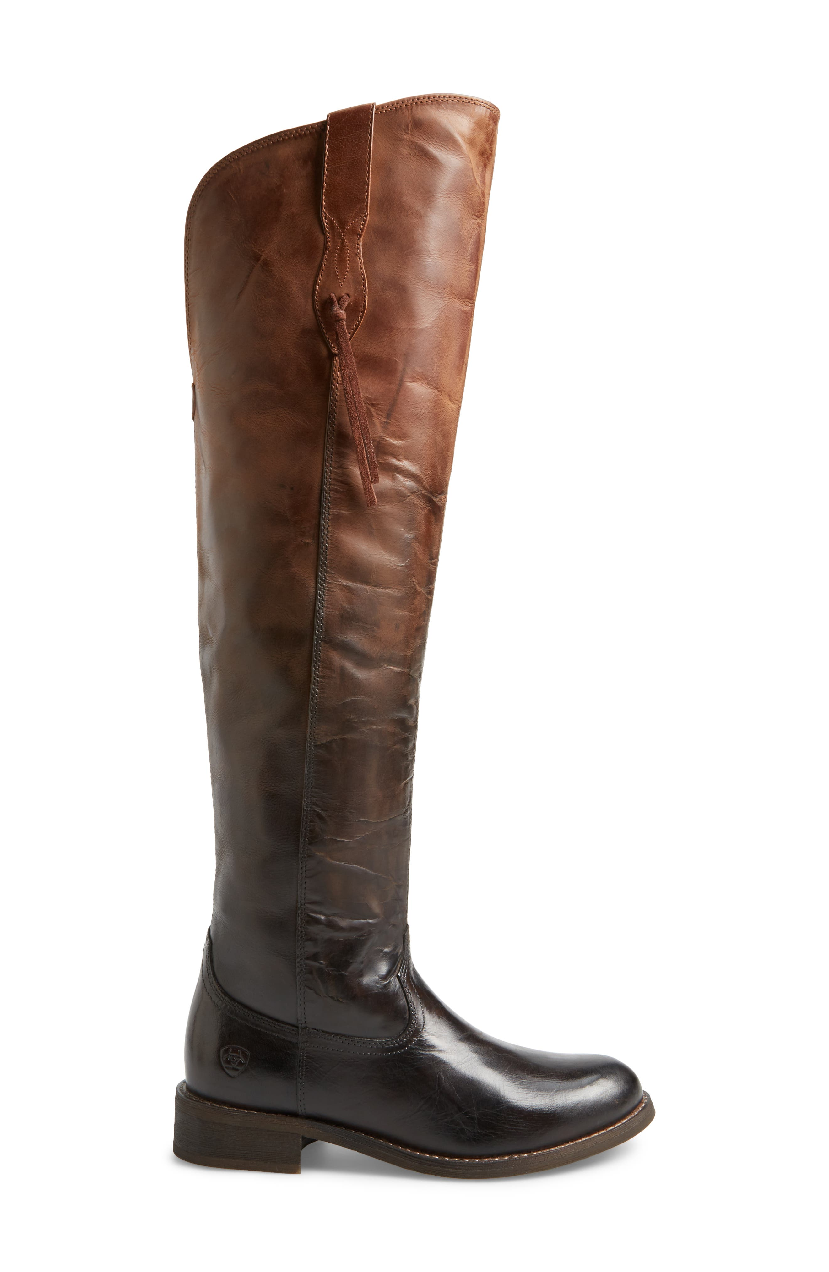 Farrah Over the Knee Boot,                             Alternate thumbnail 3, color,                             Sassy Chocolate Leather