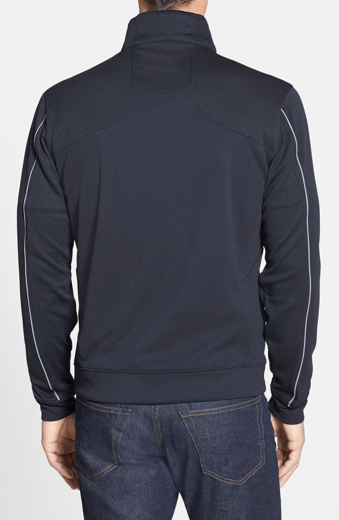 Alternate Image 2  - Cutter & Buck San Francisco 49ers - Edge DryTec Moisture Wicking Half Zip Pullover