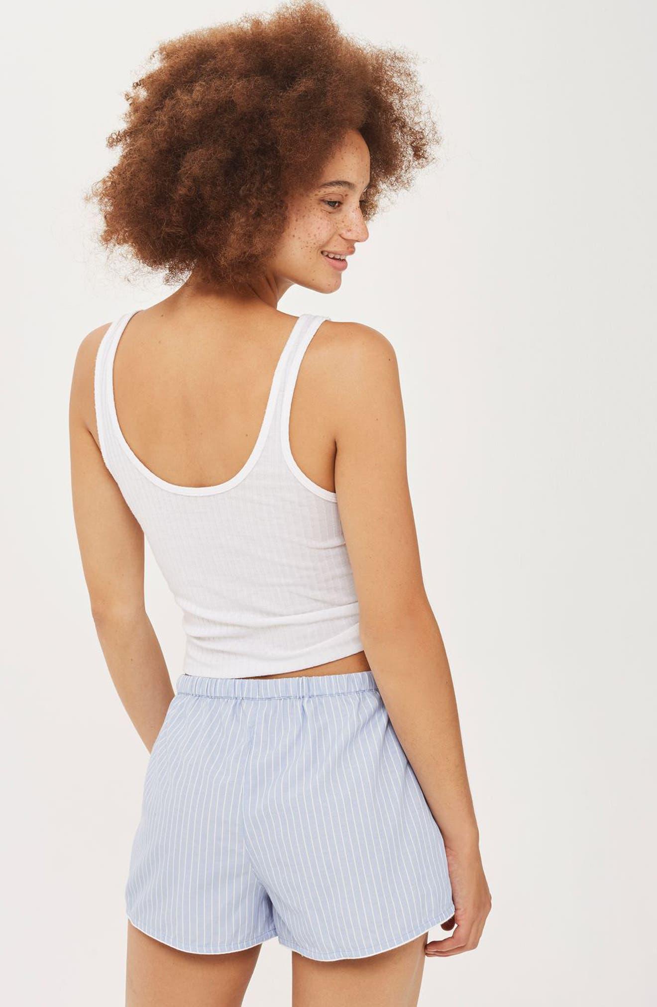 Alternate Image 2  - Topshop Embroidered Lounge Shorts