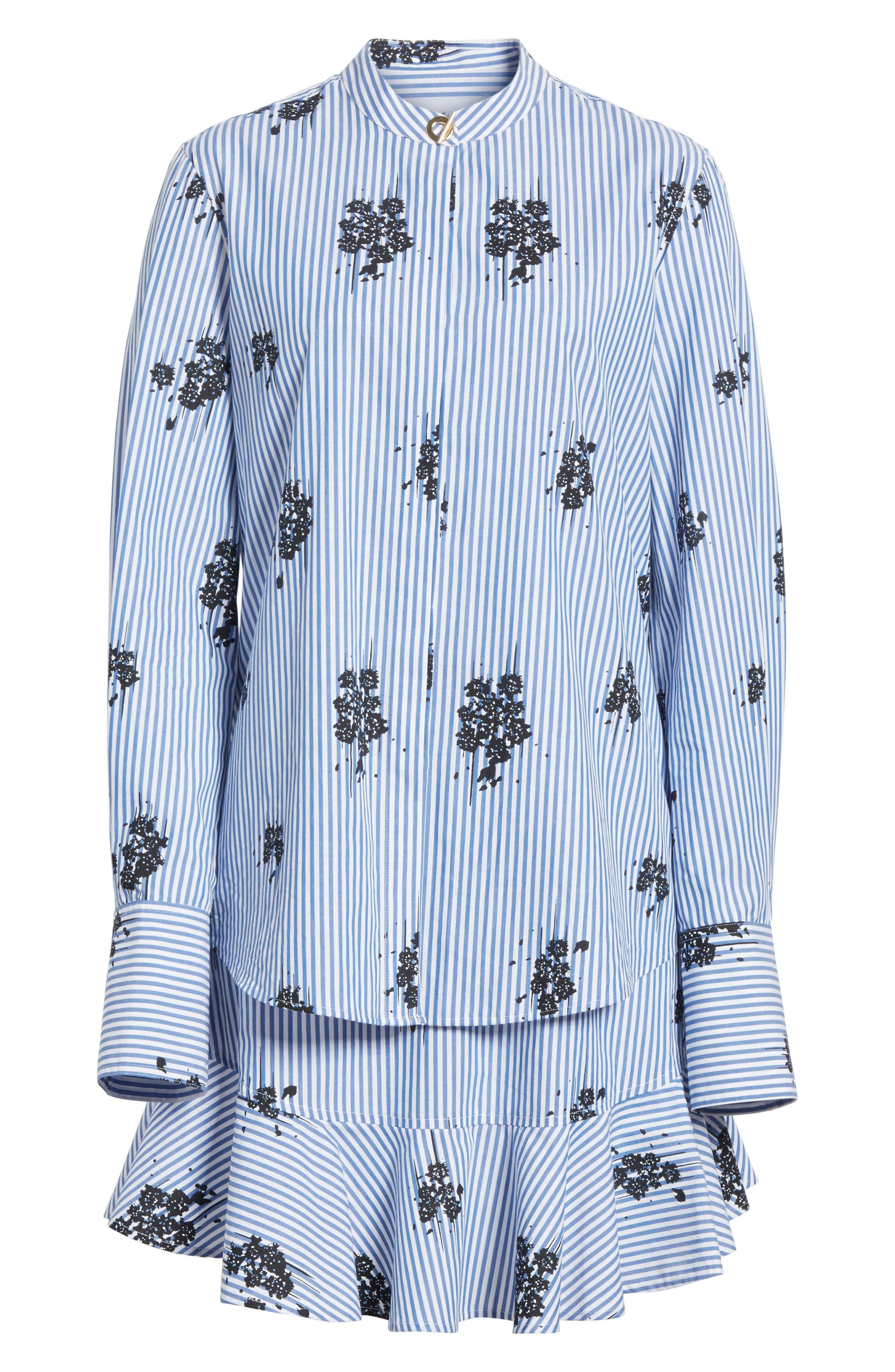 2-in-1 Ruffled Shirtdress,                             Alternate thumbnail 7, color,                             Blue
