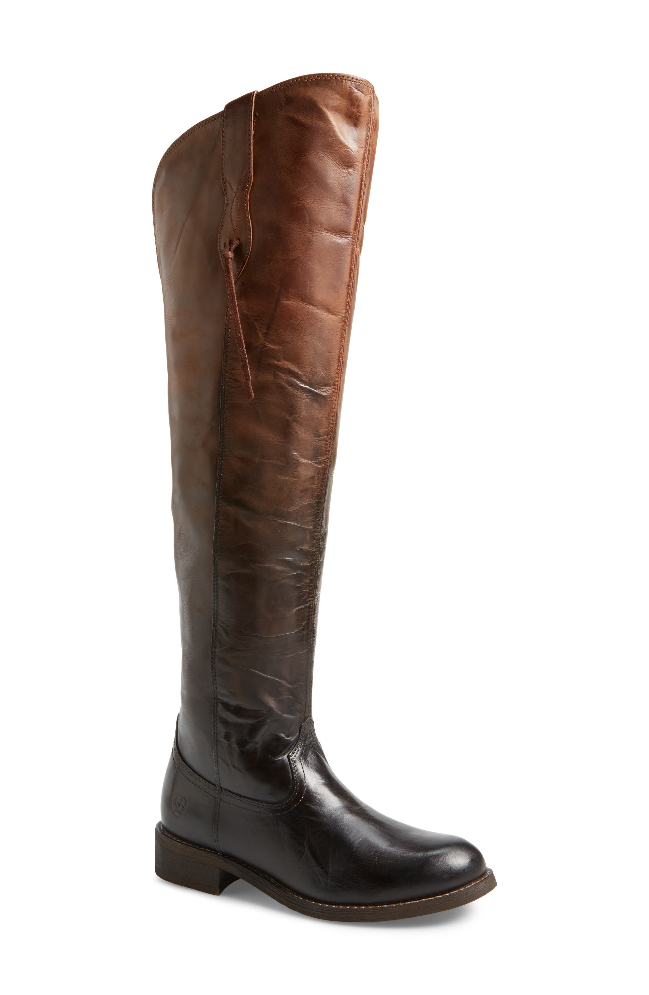 Farrah Over the Knee Boot,                             Main thumbnail 1, color,                             Sassy Chocolate Leather