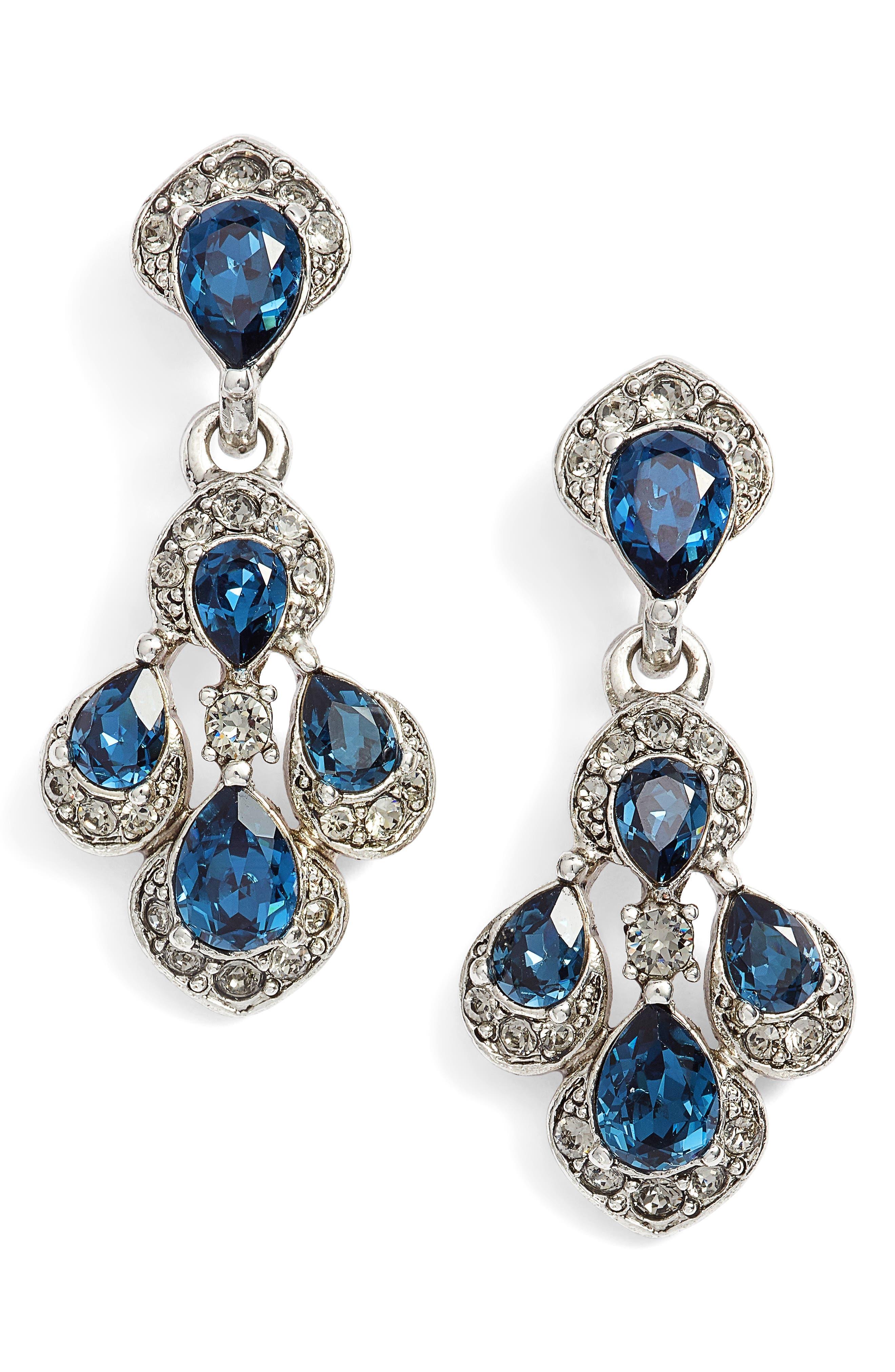 Parlor Drop Earrings,                         Main,                         color, Antique Silver