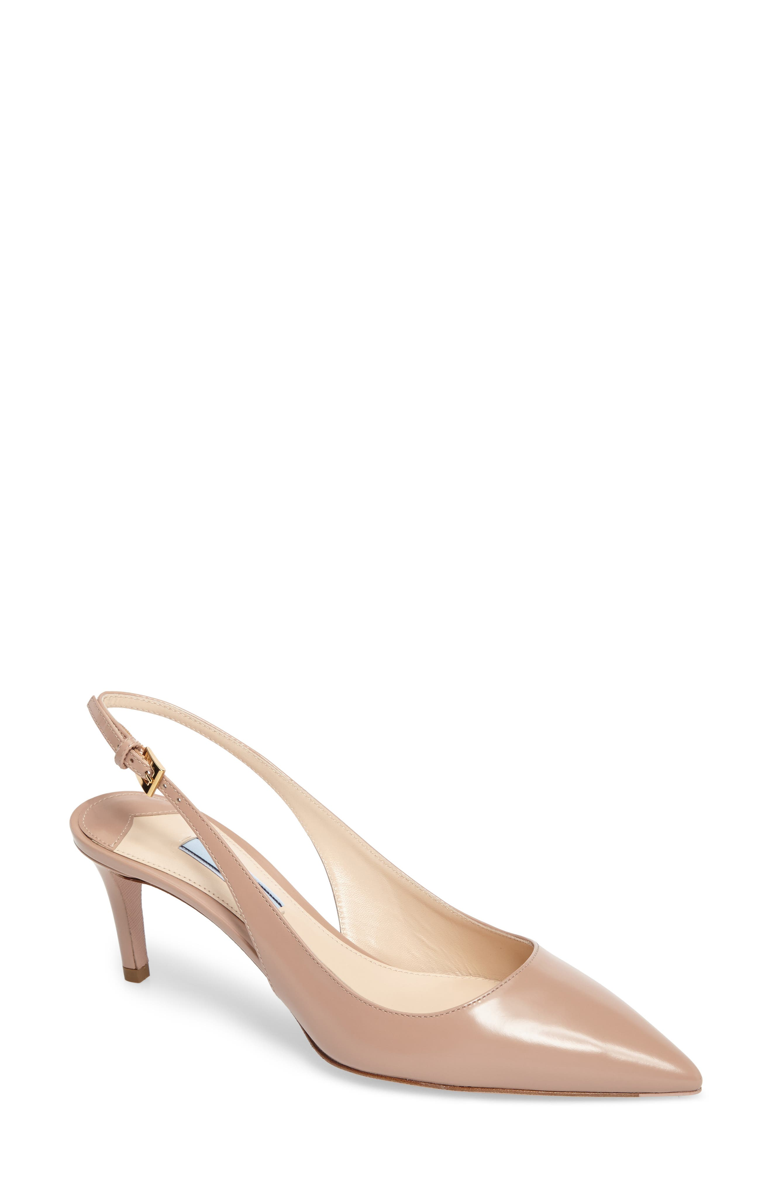 Alternate Image 1 Selected - Prada Slingback Pump (Women)