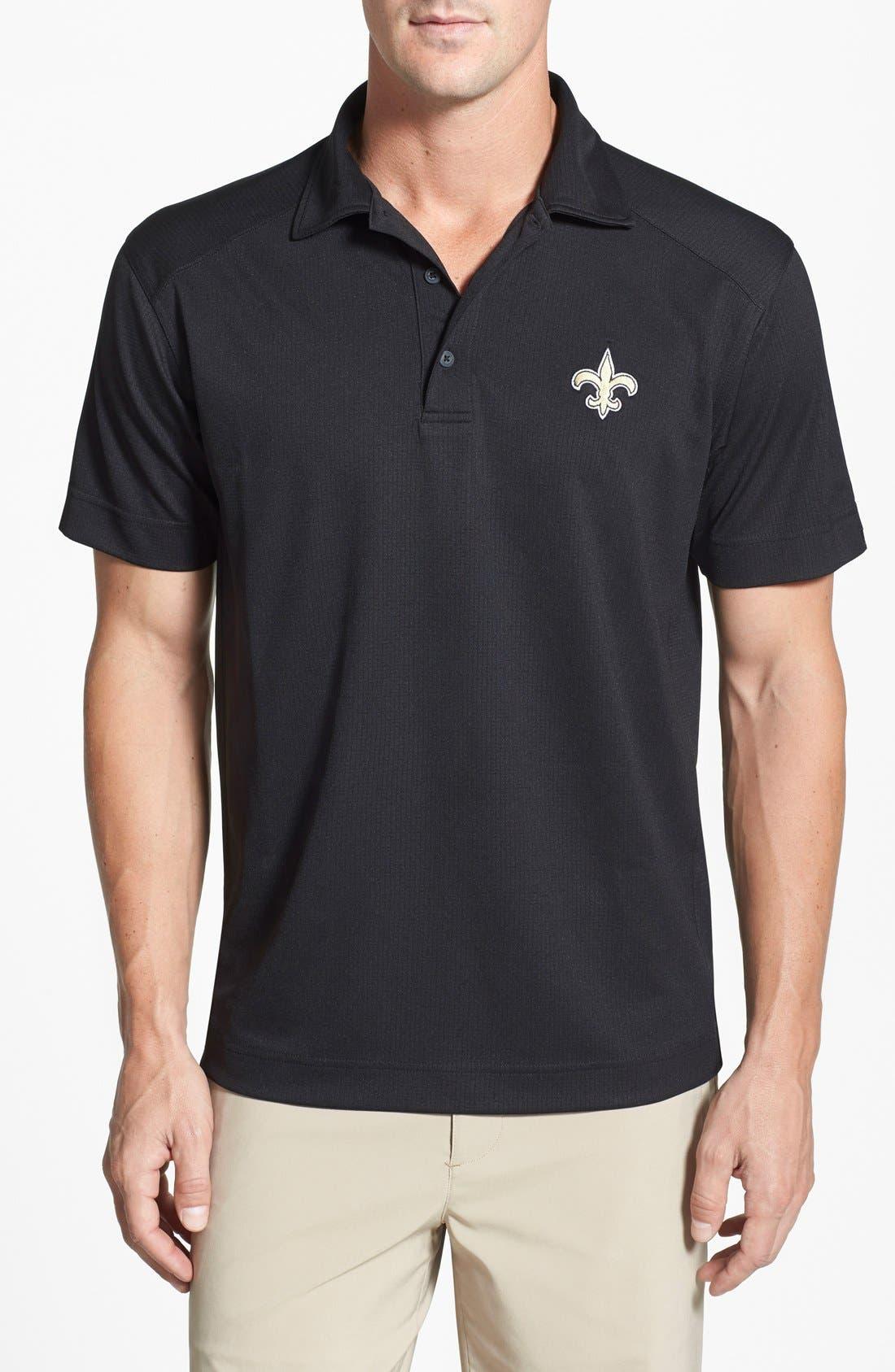 'New Orleans Saints - Genre' DryTec Moisture Wicking Polo,                             Main thumbnail 1, color,                             Black